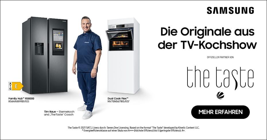 Die smarten Samsung Hausgeräte aus der TV-Kochshow The Taste - auch hier bei moebelplus!