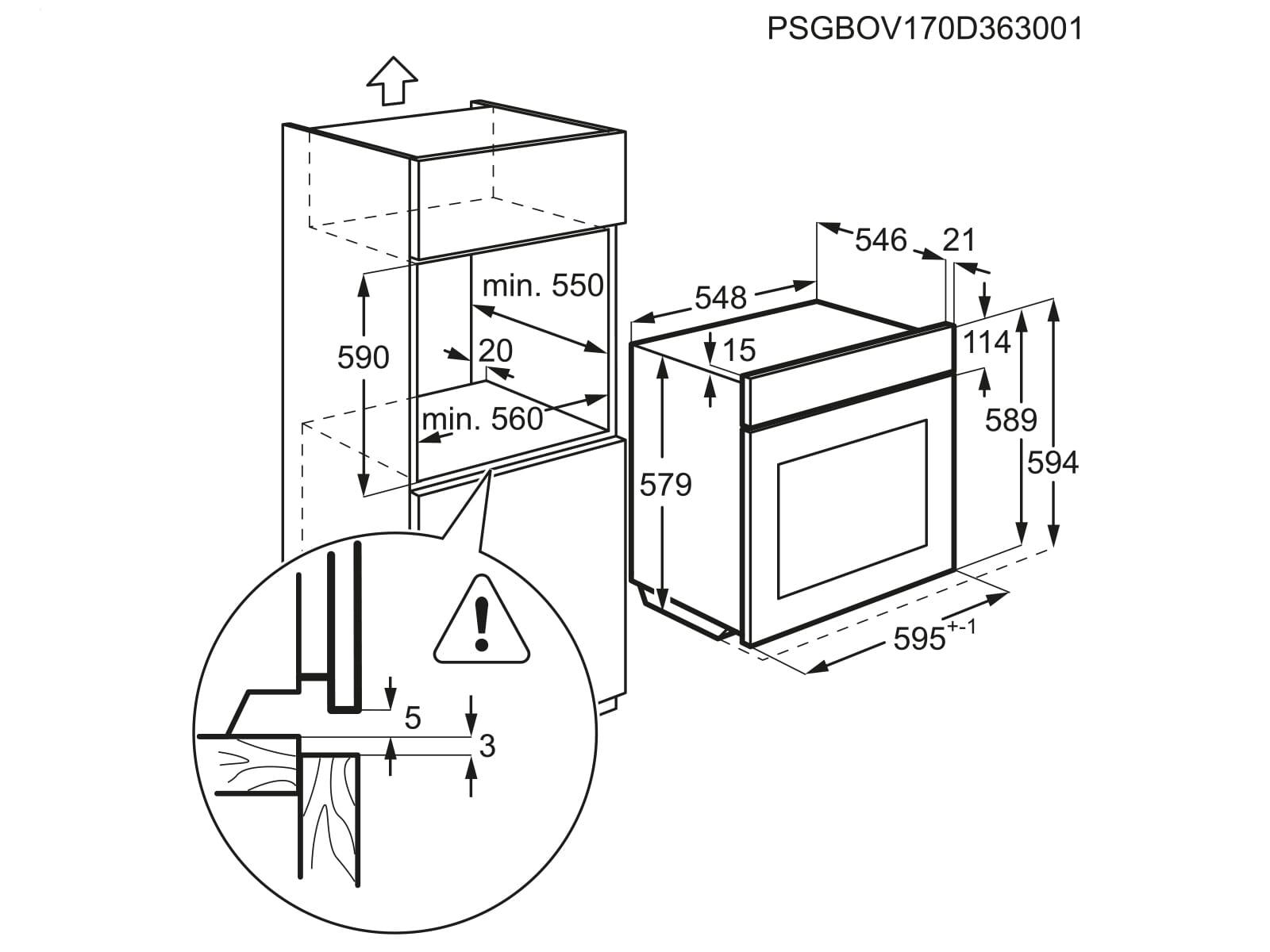 AEG BEB331-1 Set Backofen BEB331010M + Glaskeramikkochfeld HK624000X-B