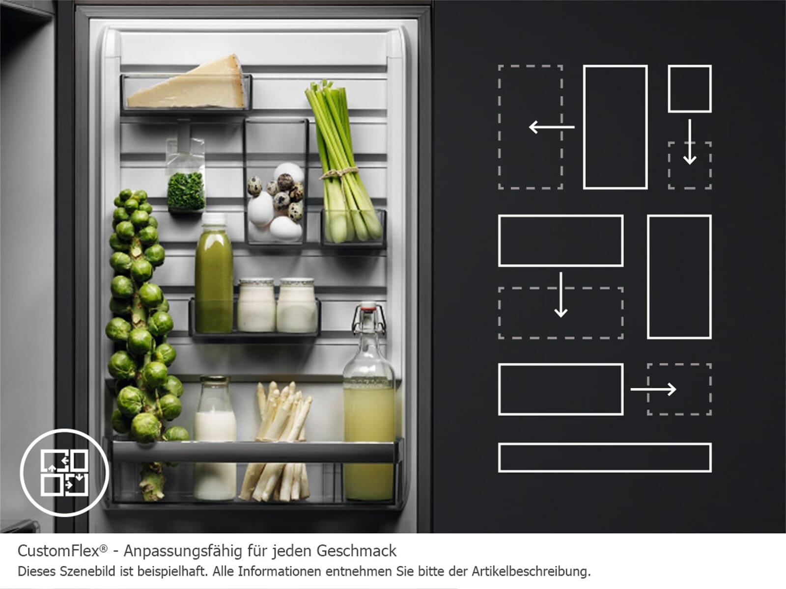 Aeg Customflex Kühlschrank : Aeg rcb mx kühl gefrierkombination edelstahl