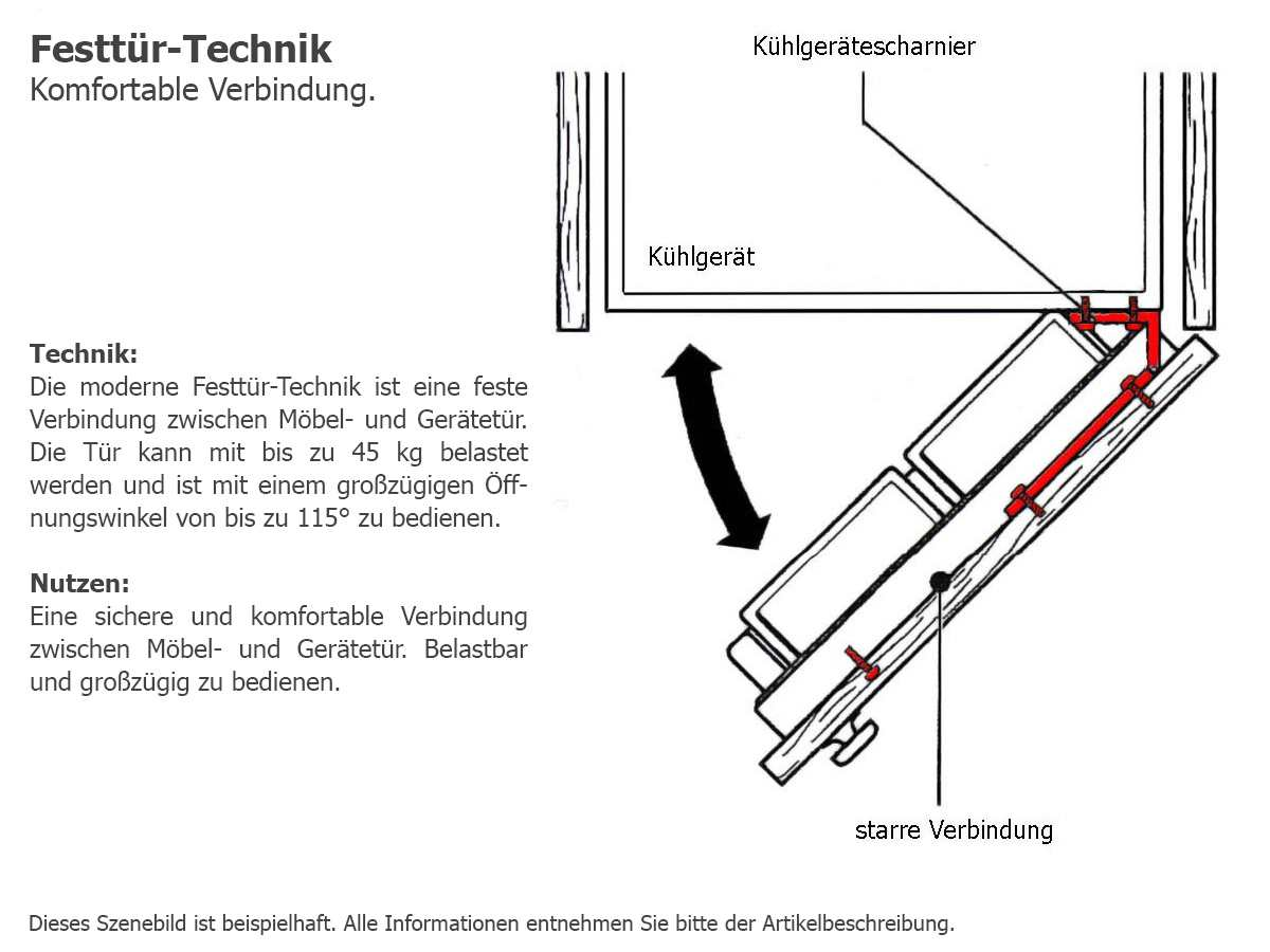 Unterbaukühlschränke  Zanussi ZQA12430DA Unterbaukühlschrank