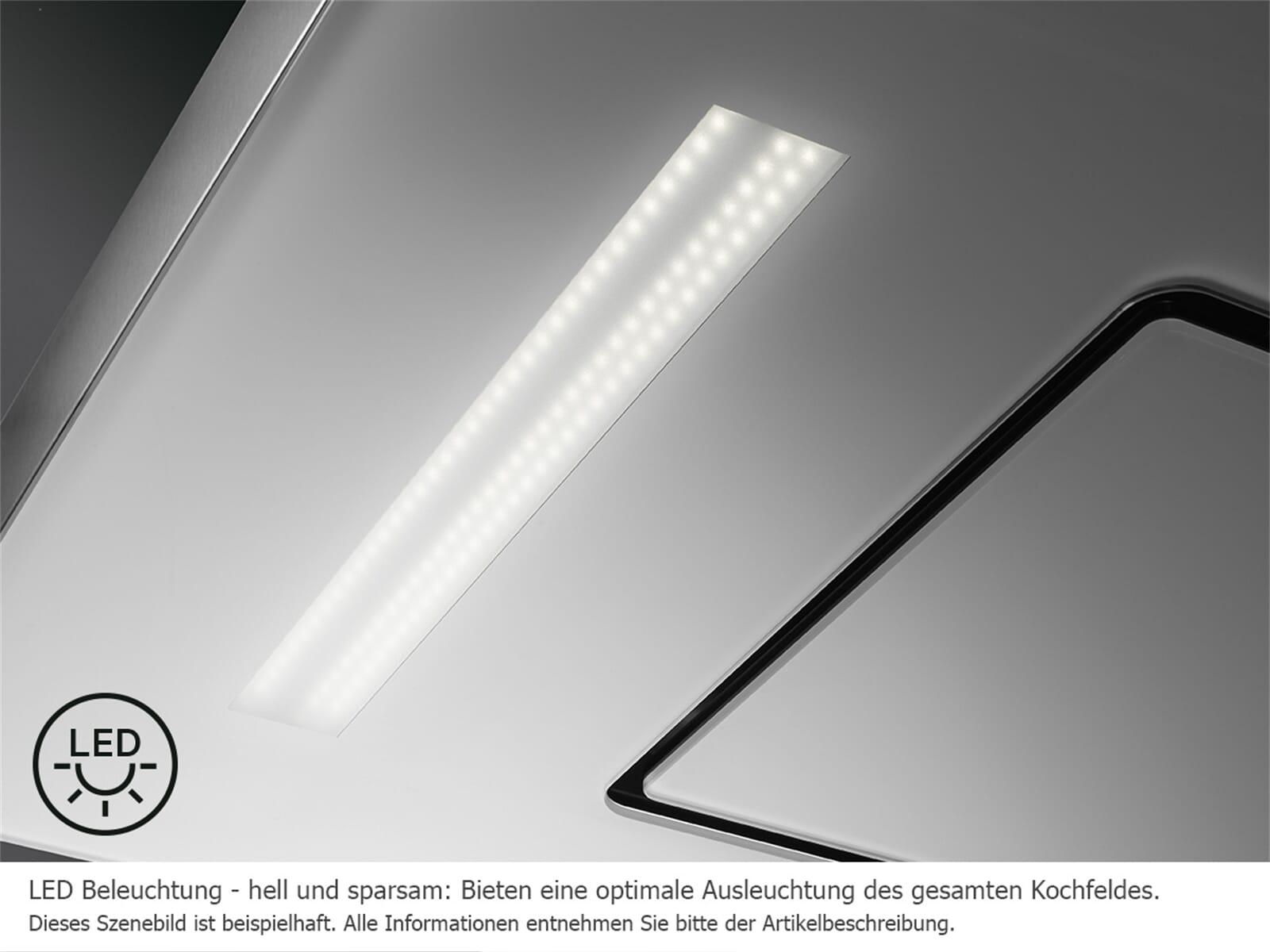 Dunstabzugshaube Unterbau Led : Aeg dpe5650g pull out glass flachschirmhaube edelstahl