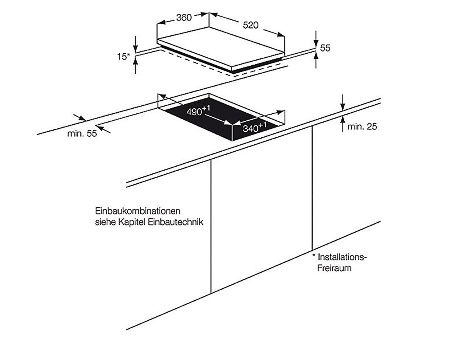 aeg hc452401eb domino induktionskochfeld autark. Black Bedroom Furniture Sets. Home Design Ideas