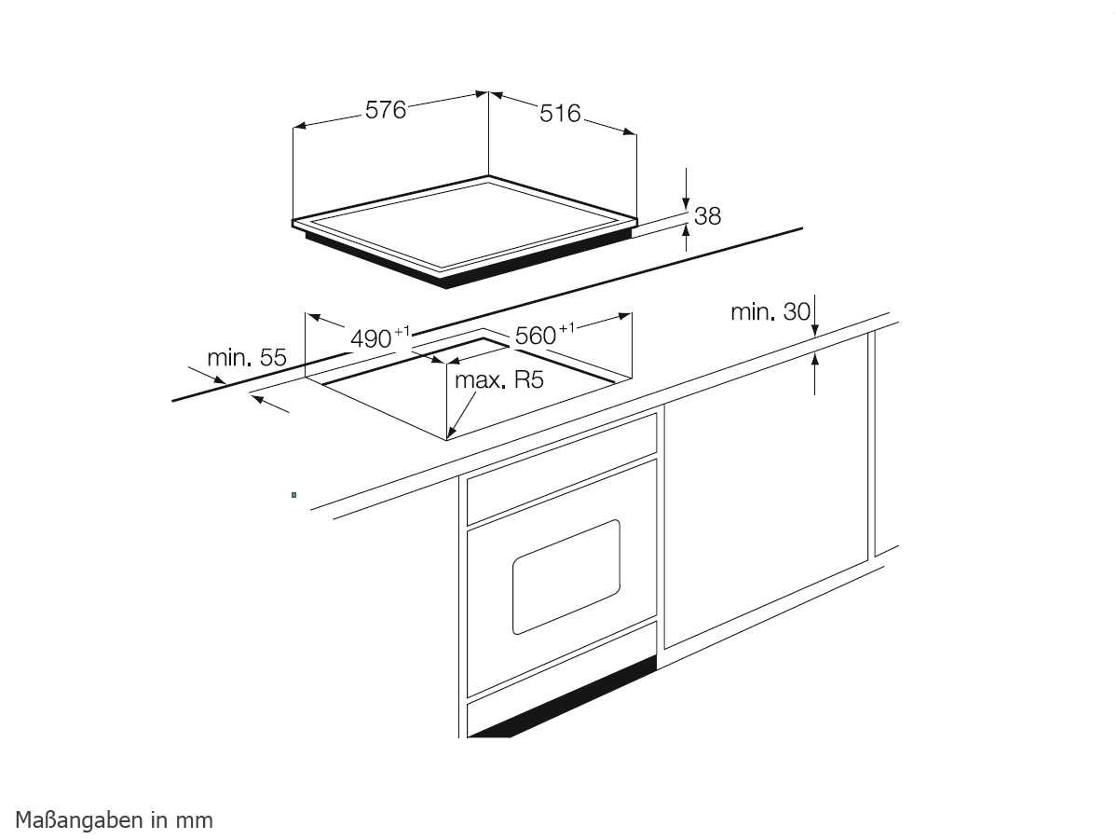 aeg he604000x b glaskeramikkochfeld herdgebunden. Black Bedroom Furniture Sets. Home Design Ideas
