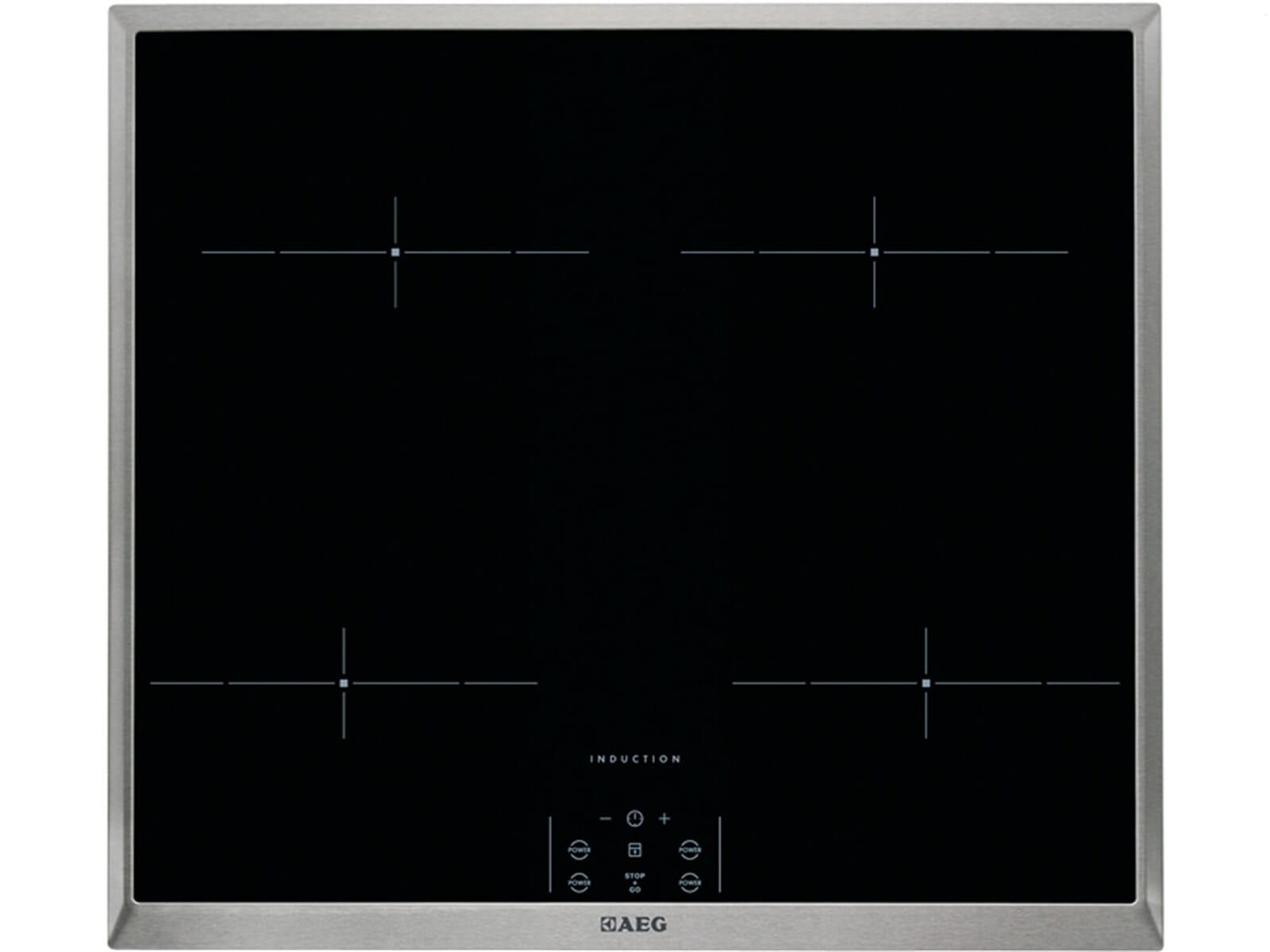 Produktabbildung AEG HEM63400X-B Induktion Glaskeramik Kochfeld herdgebunden