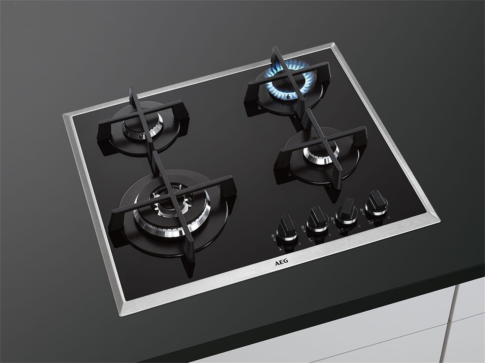 Aeg hg694550xbd glaskeramik gaskochfeld autark for Gaskochfeld autark