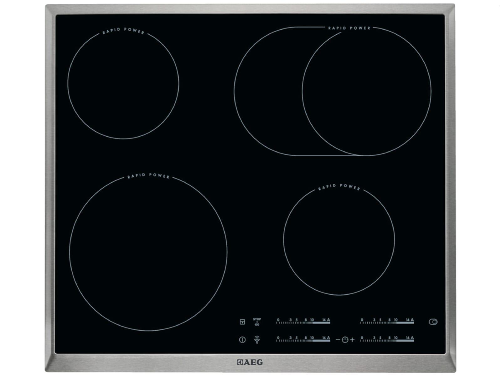 AEG BPB332-1 Set Pyrolyse Backofen BPB331020M + Glaskeramikkochfeld HK654850XB