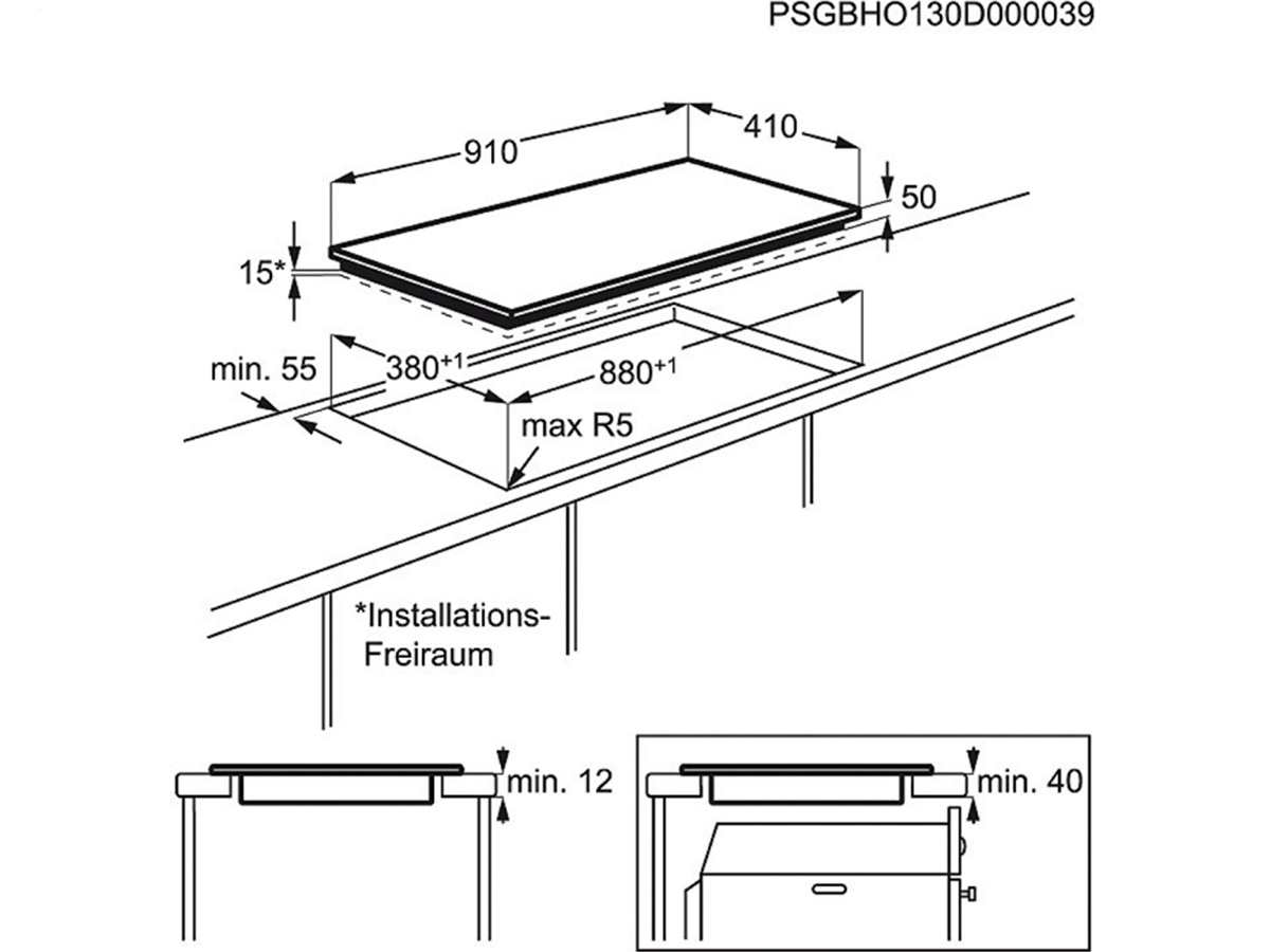 aeg hk973500f b induktionskochfeld autark. Black Bedroom Furniture Sets. Home Design Ideas