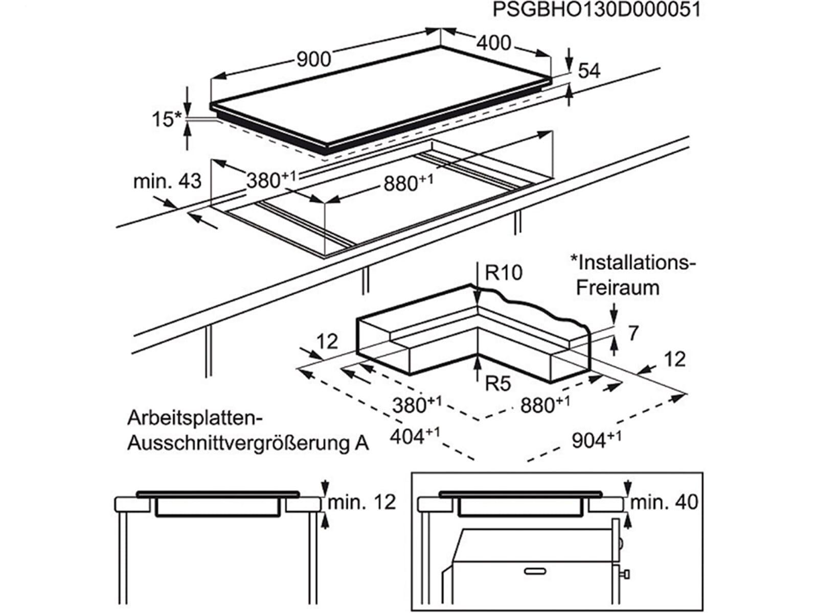 aeg hk973500i b induktionskochfeld autark. Black Bedroom Furniture Sets. Home Design Ideas