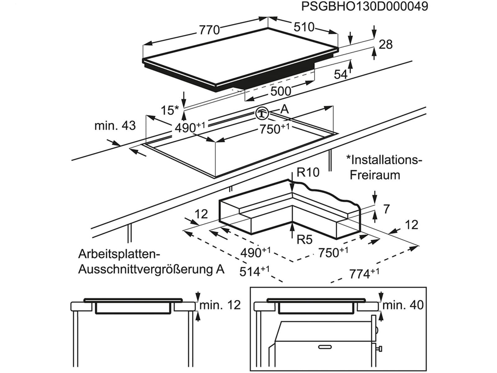 aeg hkp87420ib induktionskochfeld autark. Black Bedroom Furniture Sets. Home Design Ideas