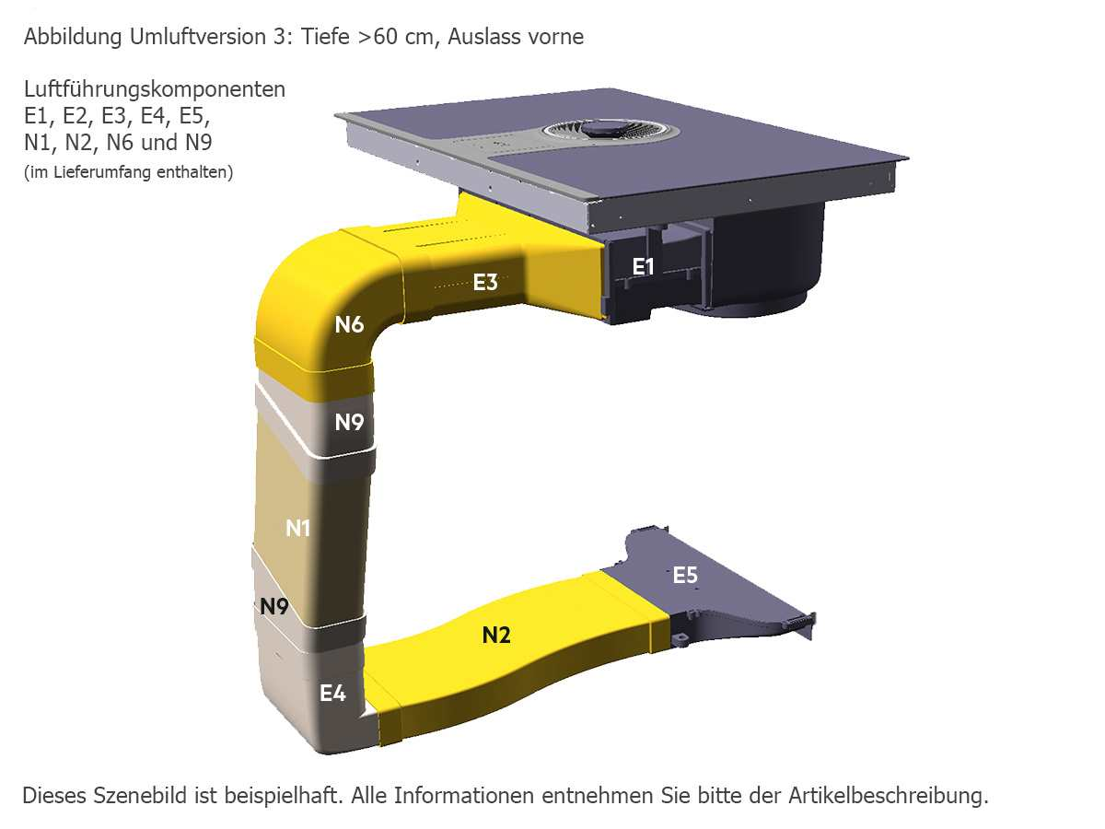 aeg combohob ide84241i b induktionskochfeld dunstabzug kombination ebay. Black Bedroom Furniture Sets. Home Design Ideas