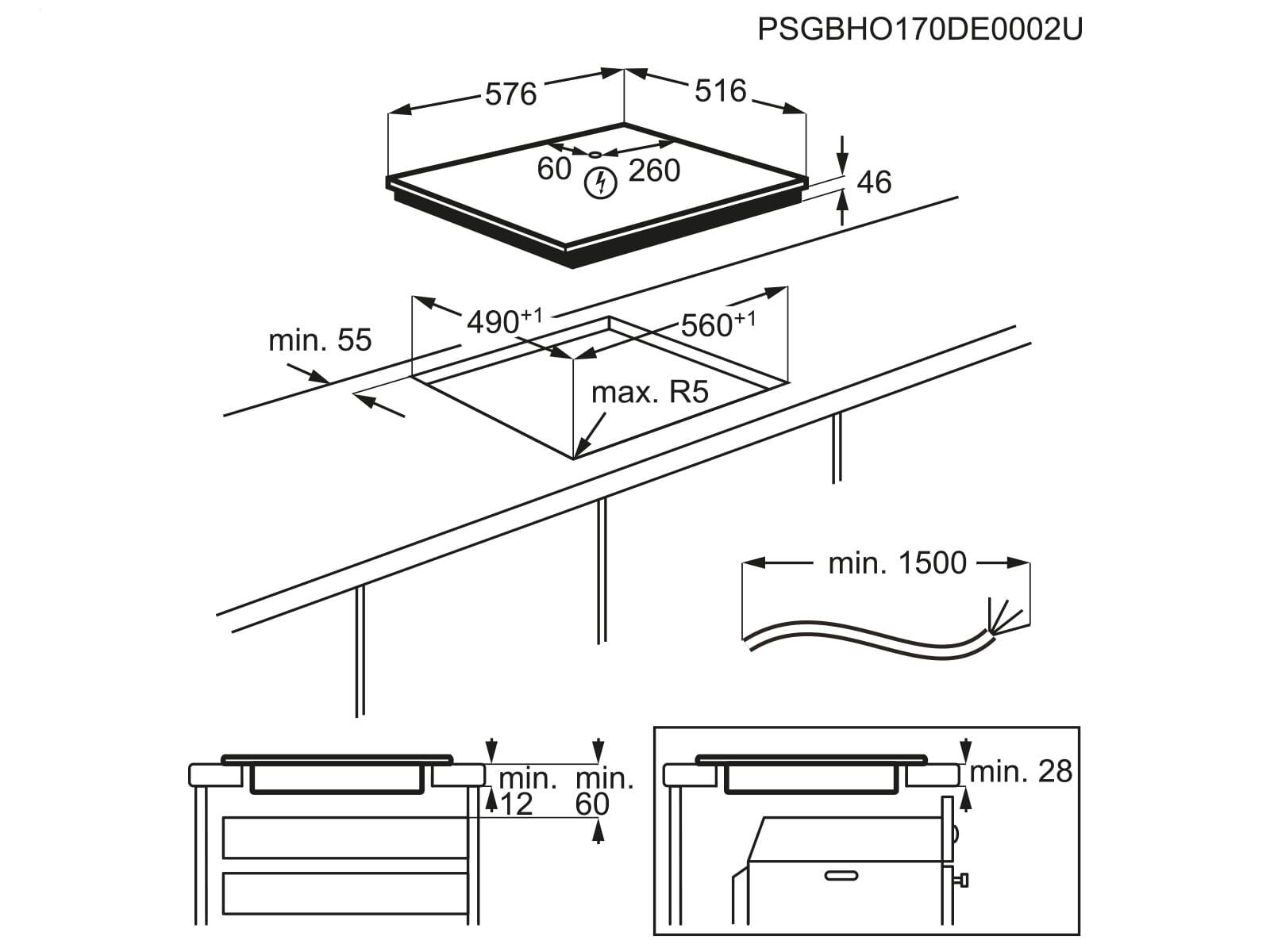 aeg ike64450xb induktionskochfeld autark. Black Bedroom Furniture Sets. Home Design Ideas