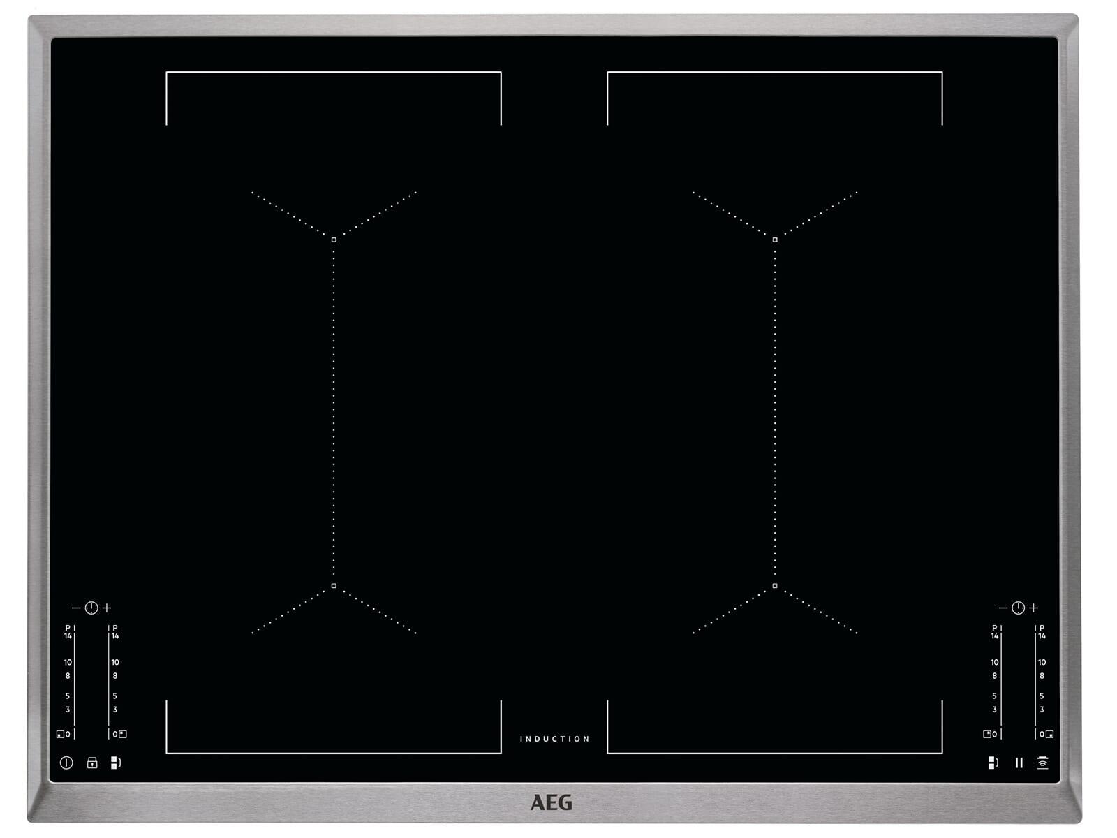 AEG BSK775-1 Set Pyrolyse Backofen BSK774220M + Induktionskochfeld IKE74451XB