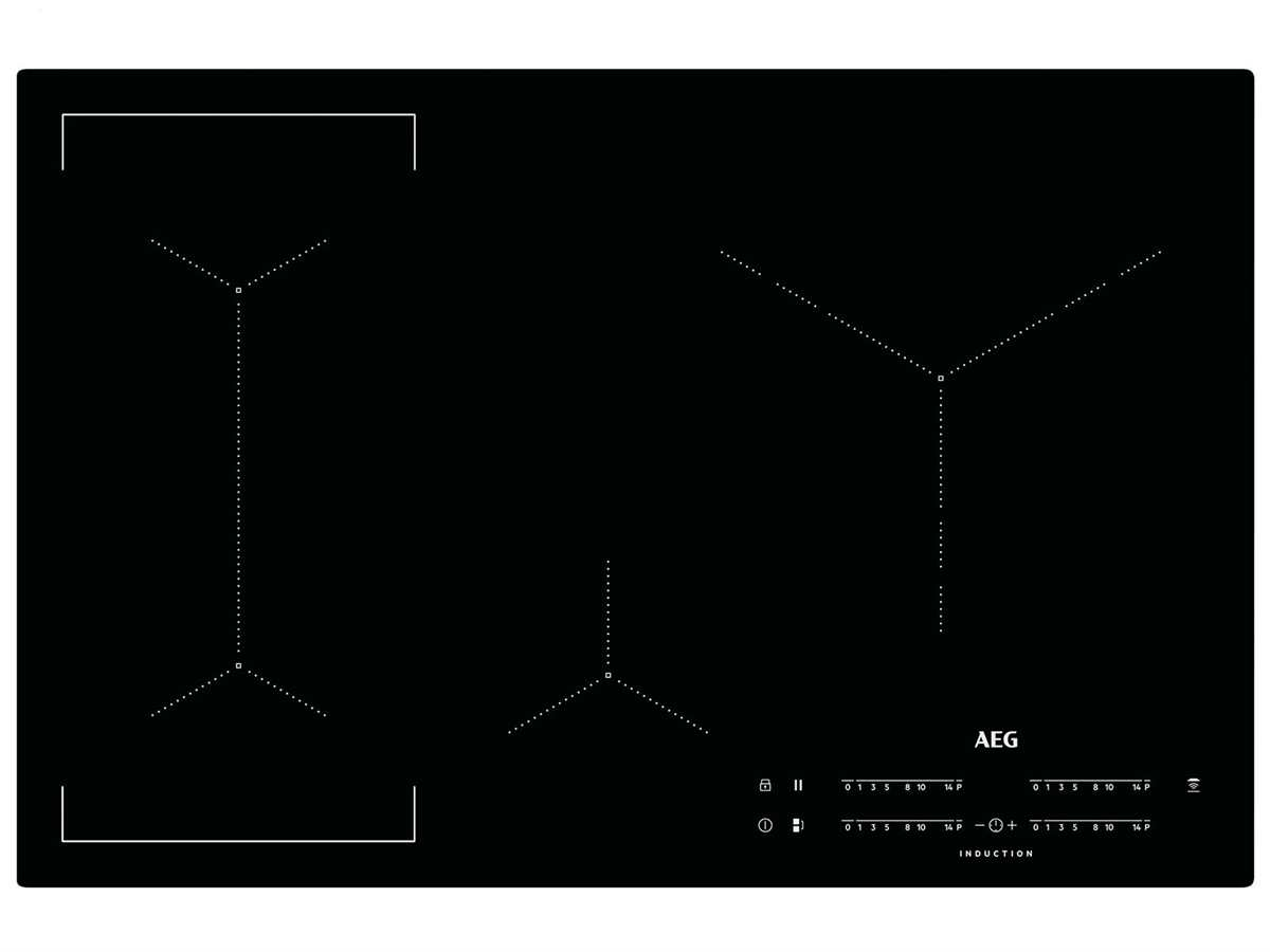aeg ike84445ib induktionskochfeld autark. Black Bedroom Furniture Sets. Home Design Ideas