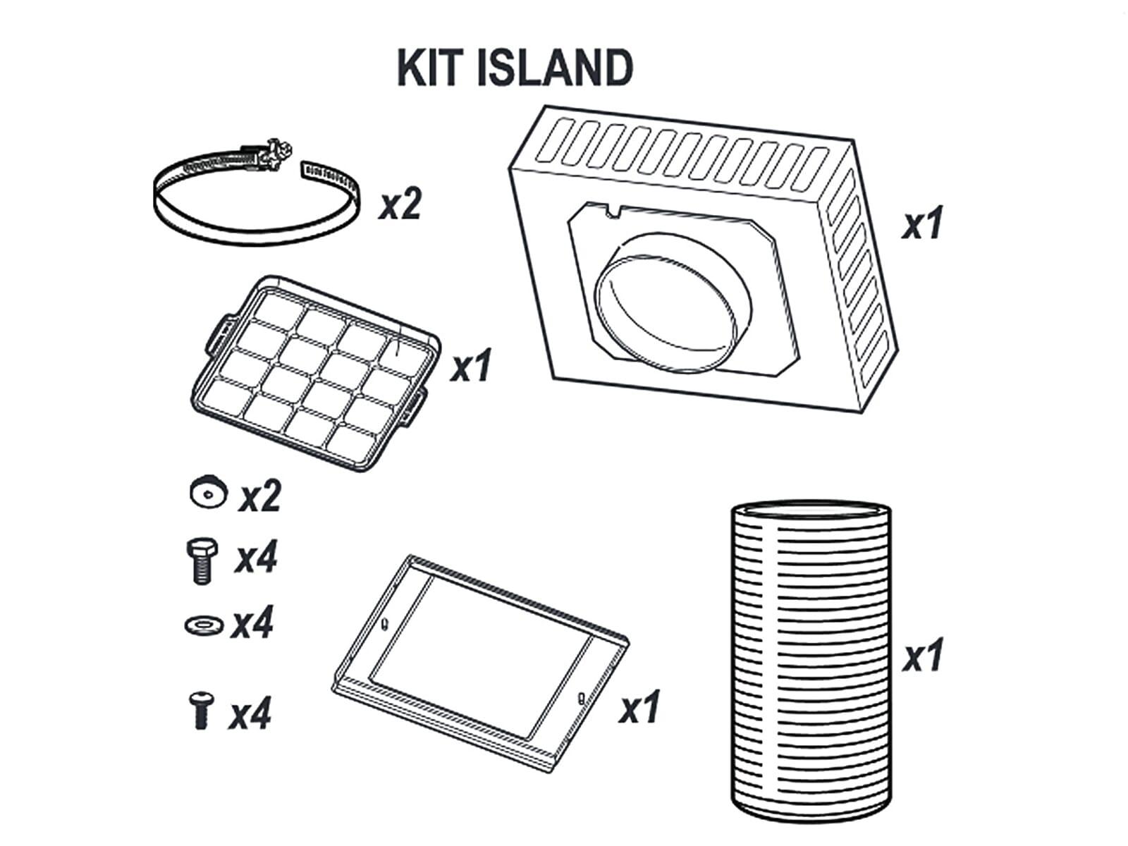 AEG Kit Island Umluftset