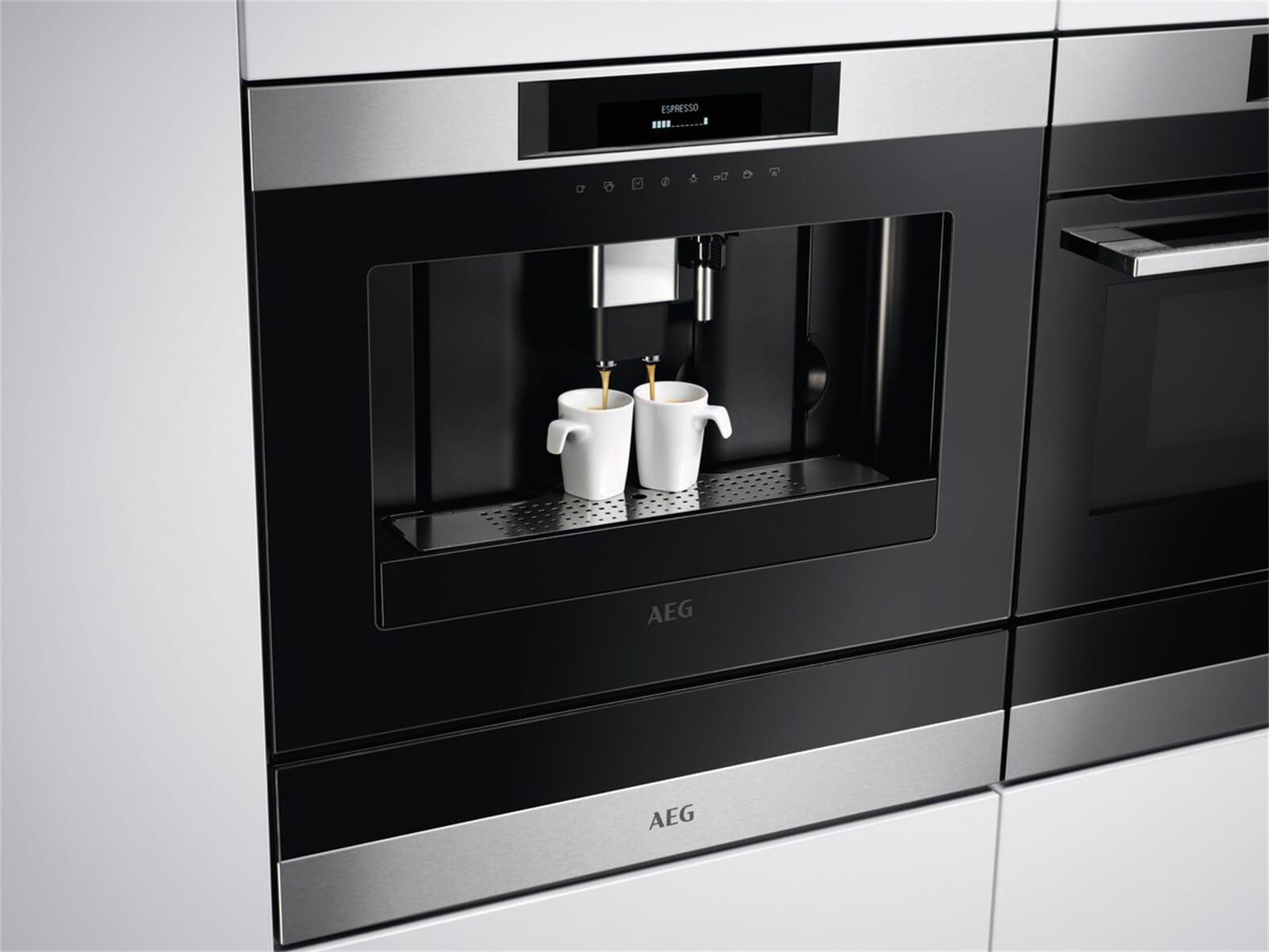 aeg kkk884500m einbau espresso kaffeevollautomat edelstahl. Black Bedroom Furniture Sets. Home Design Ideas