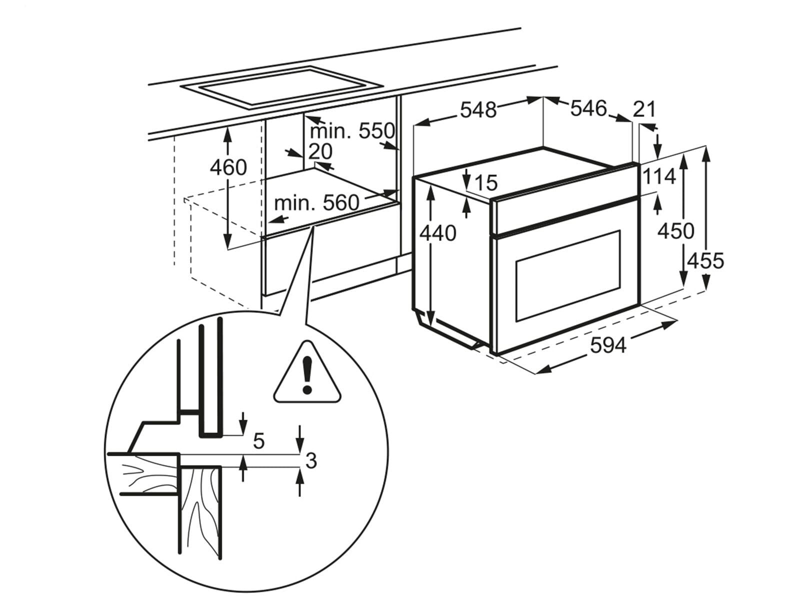 aeg kmk821000m einbau mikrowelle moebelplus. Black Bedroom Furniture Sets. Home Design Ideas