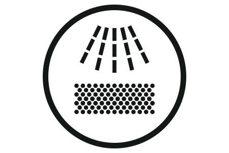 Icon leichte Reinigung und Wartung