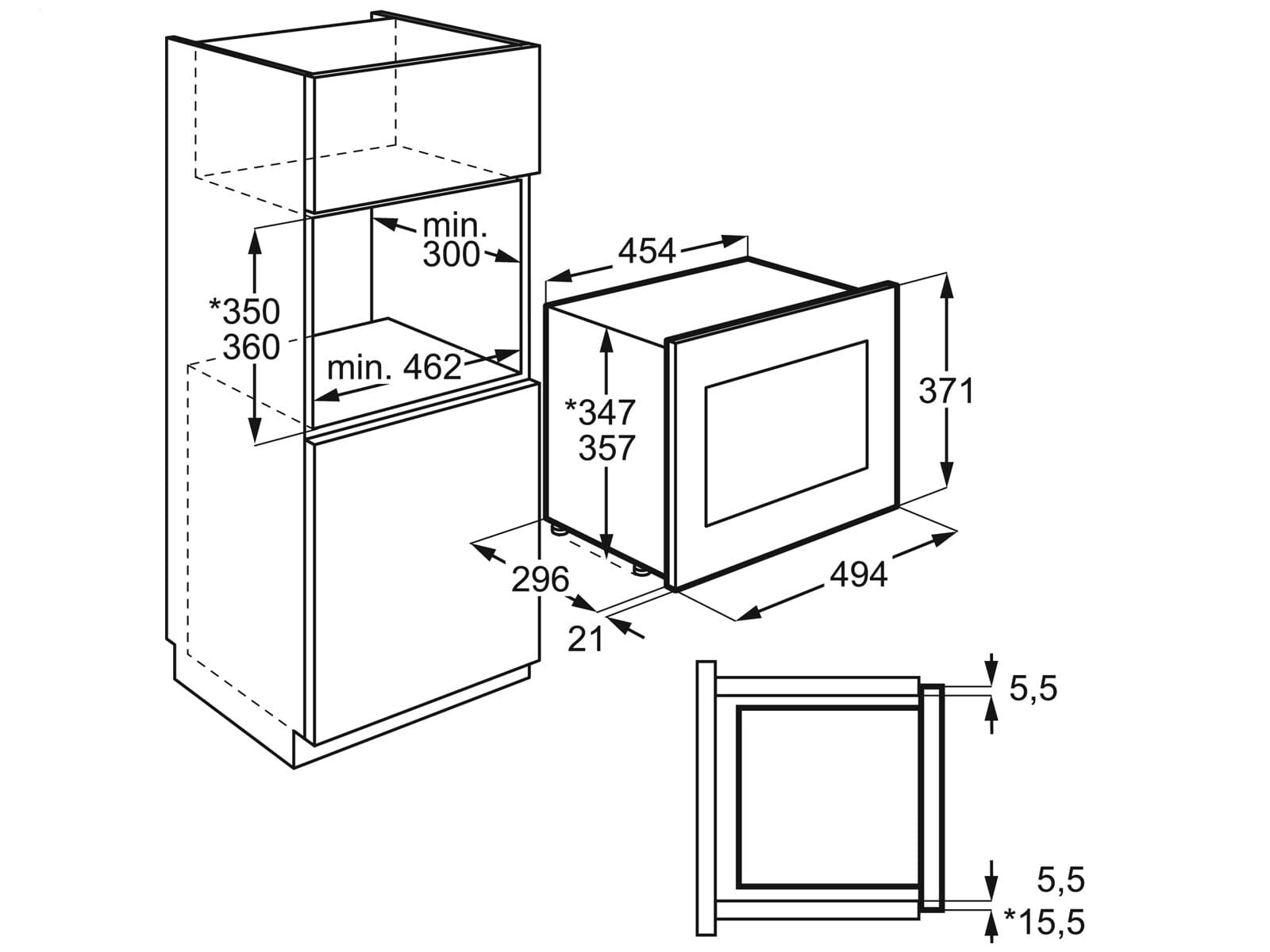 AEG MBB1755SEM Einbau-Mikrowelle Edelstahl