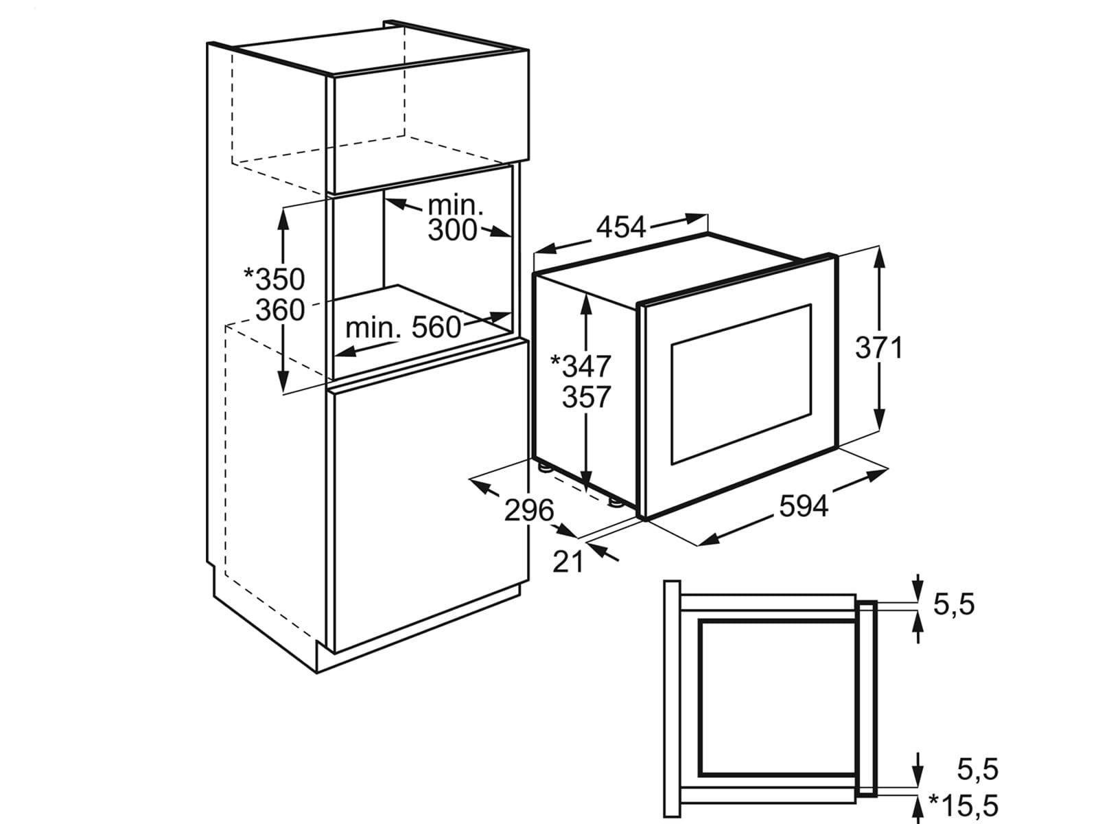 AEG MBB1756SEM Einbau-Mikrowelle Edelstahl