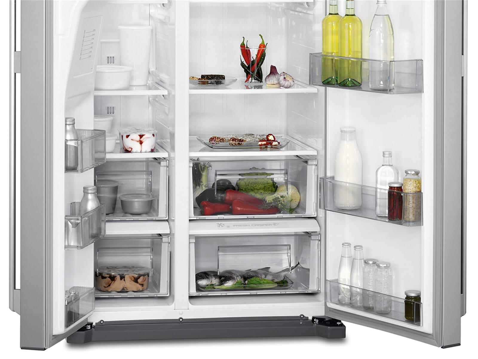 Aeg Kühlschrank Side By Side : Aeg rmb nx side by side kühl gefrier kombination edelstahl look