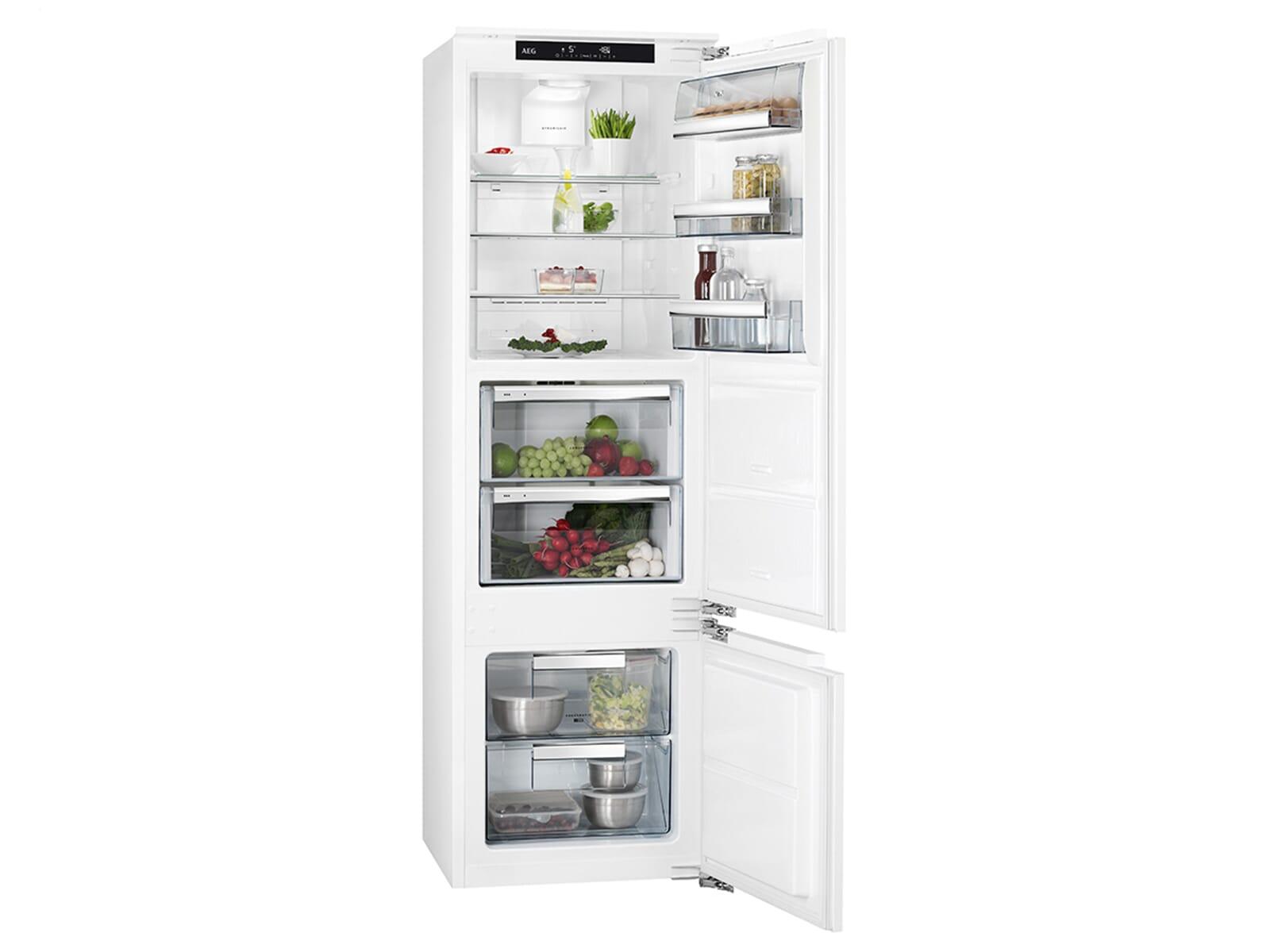 Aeg Kühlschrank Unterbau : Aeg sce zf einbau kühl gefrierkombination