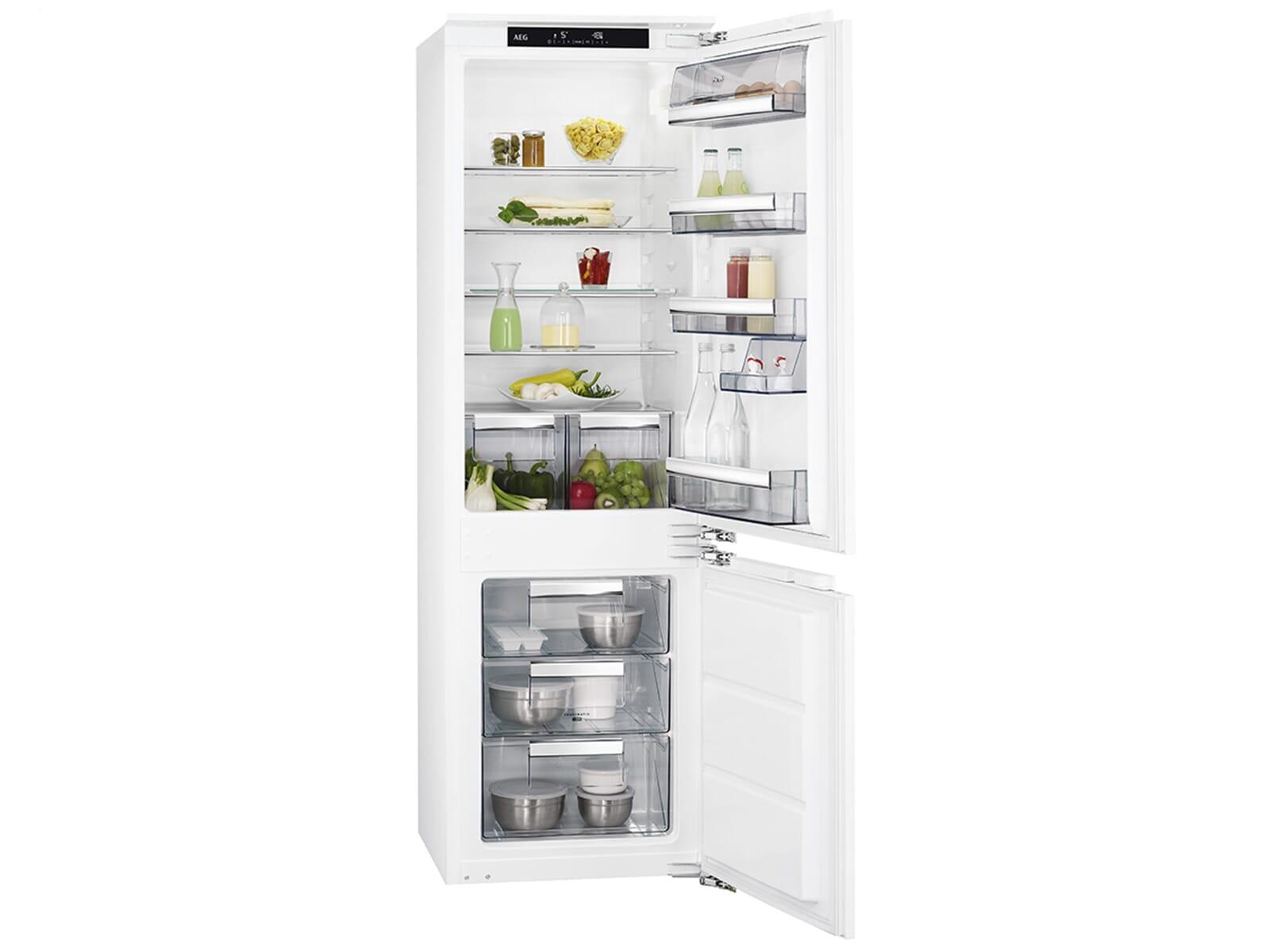 Aeg Kühlschrank Montageanleitung : Aeg sce lc einbau kühl gefrierkombination