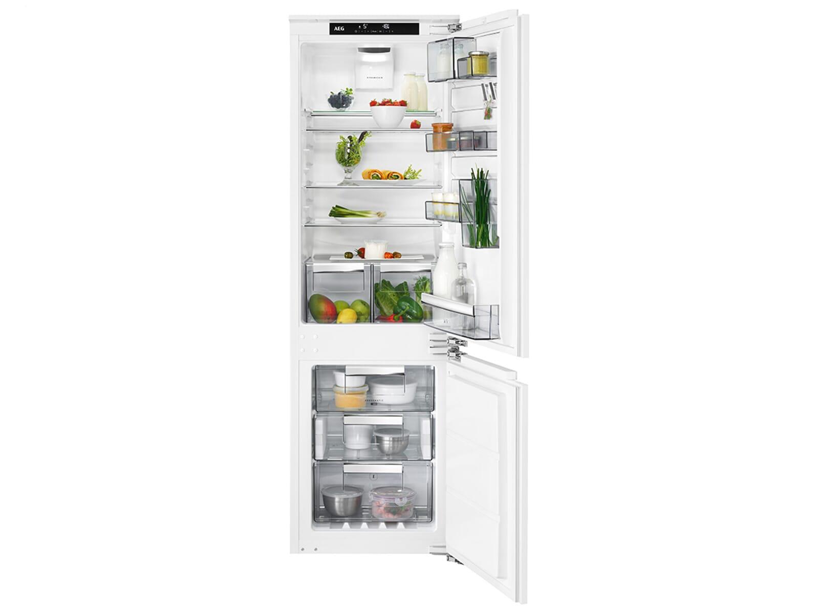 Aeg Kühlschrank Läuft Immer : Aeg sce81864tc einbau kühl gefrierkombination