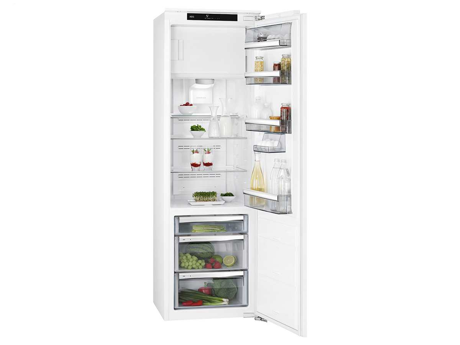 Aeg Kühlschrank Einbau : Aeg sfe zc einbaukühlschrank