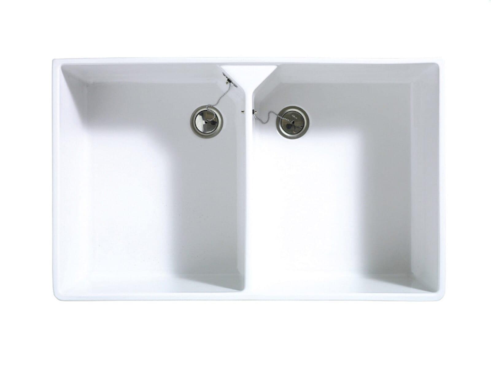 Astracast Sudbury 2.0 Weiß Hochglanz Keramik-Spüle