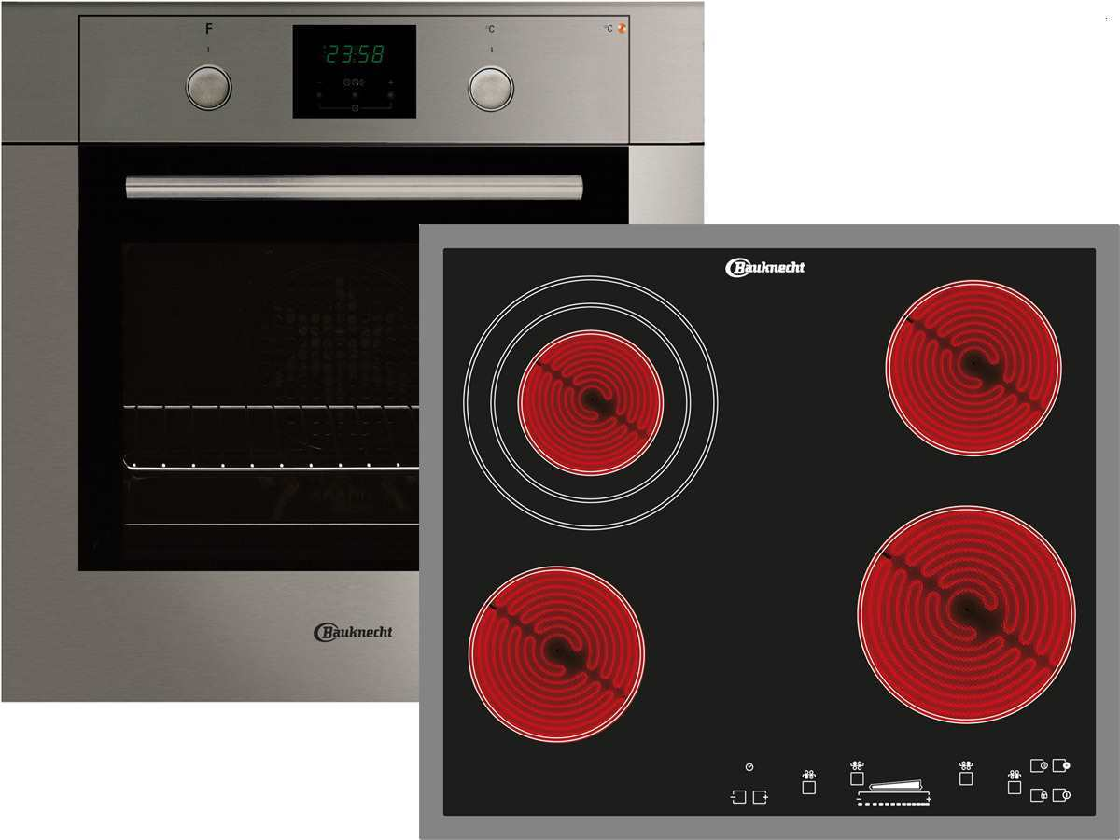 Bauknecht BKS 701 IN Set Backofen BLCK 8251 IN + Glaskeramikkochfeld ESS 8640 IN