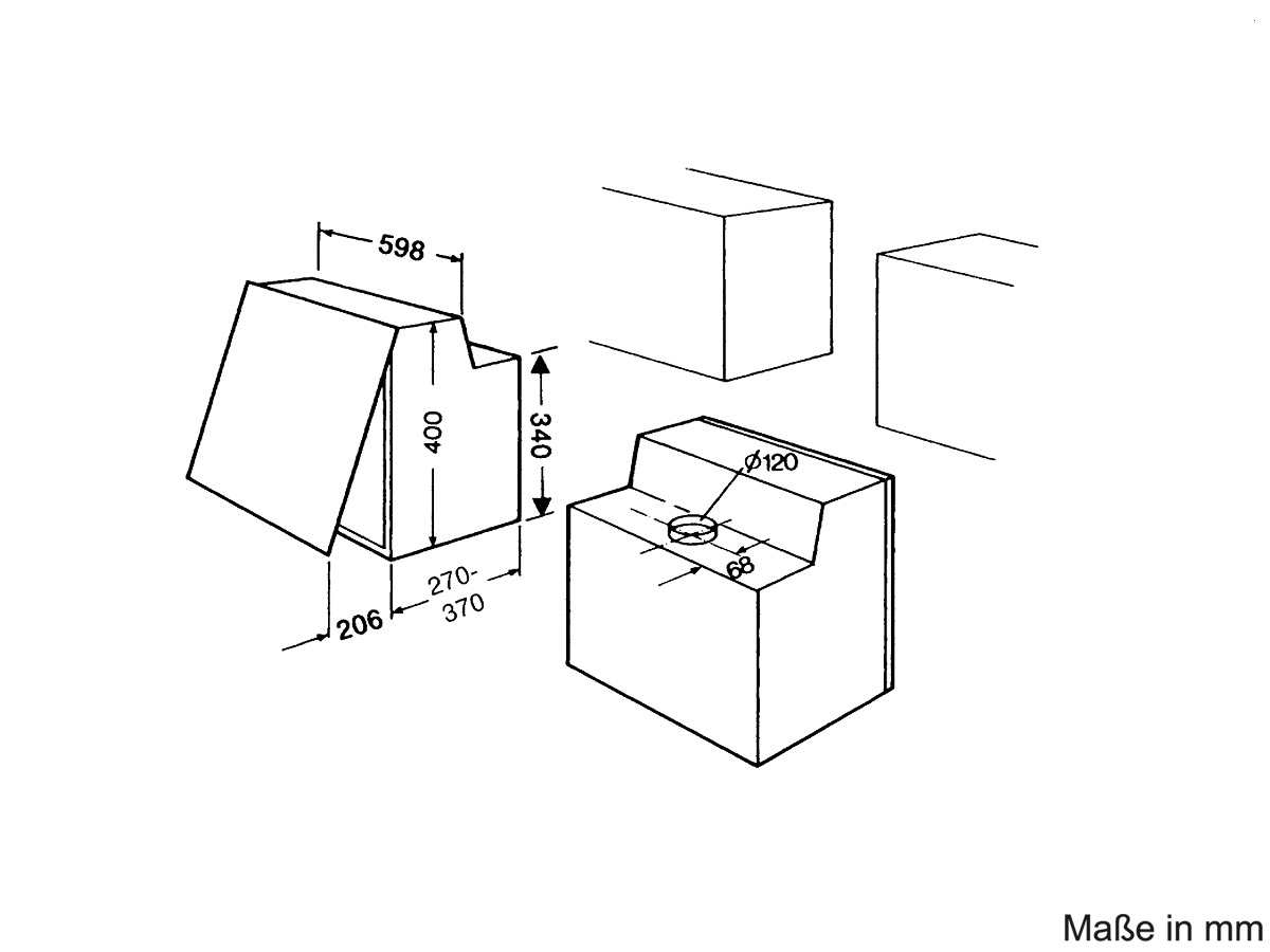 bauknecht de 5360 sg zwischenbauhaube silbergrau. Black Bedroom Furniture Sets. Home Design Ideas