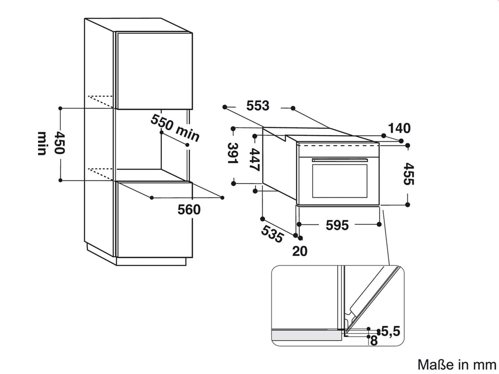 Bauknecht EMPK5 5645 PT Einbau-Mikrowelle Edelstahl
