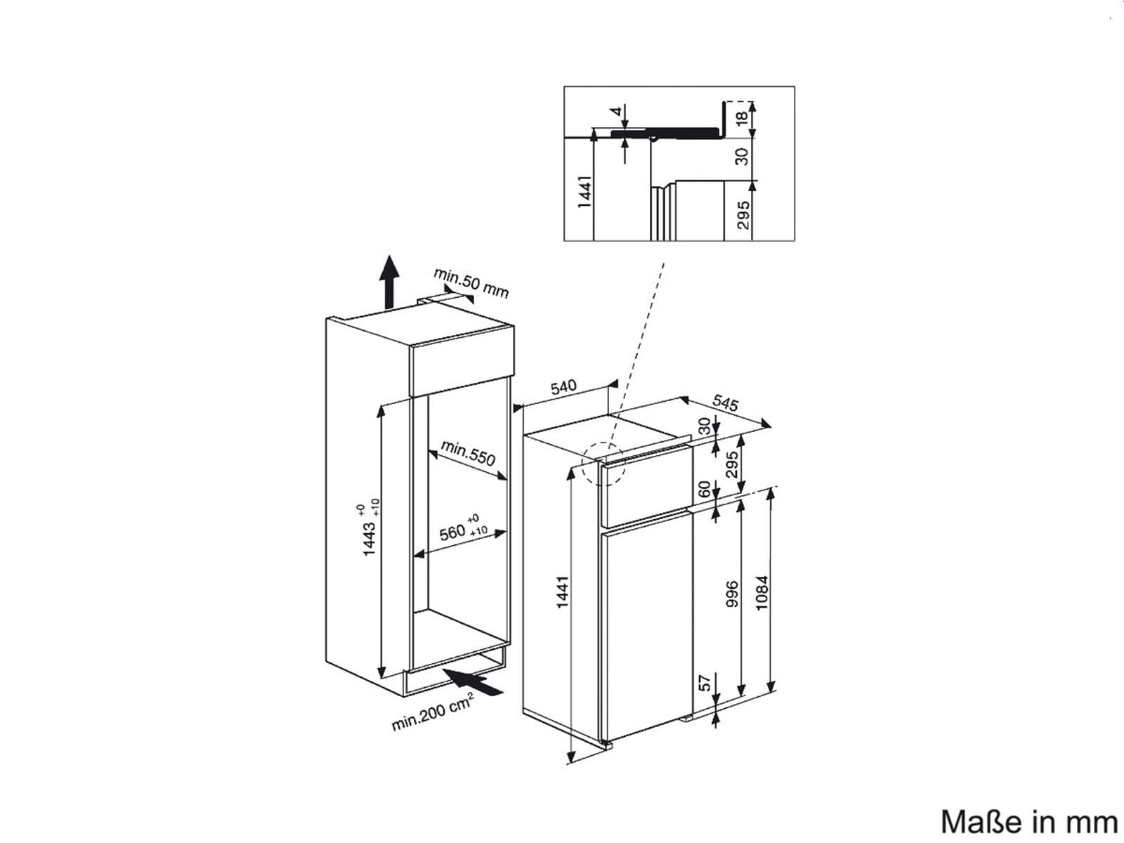 bauknecht kdi 1142 a einbau k hl gefrierkombination. Black Bedroom Furniture Sets. Home Design Ideas