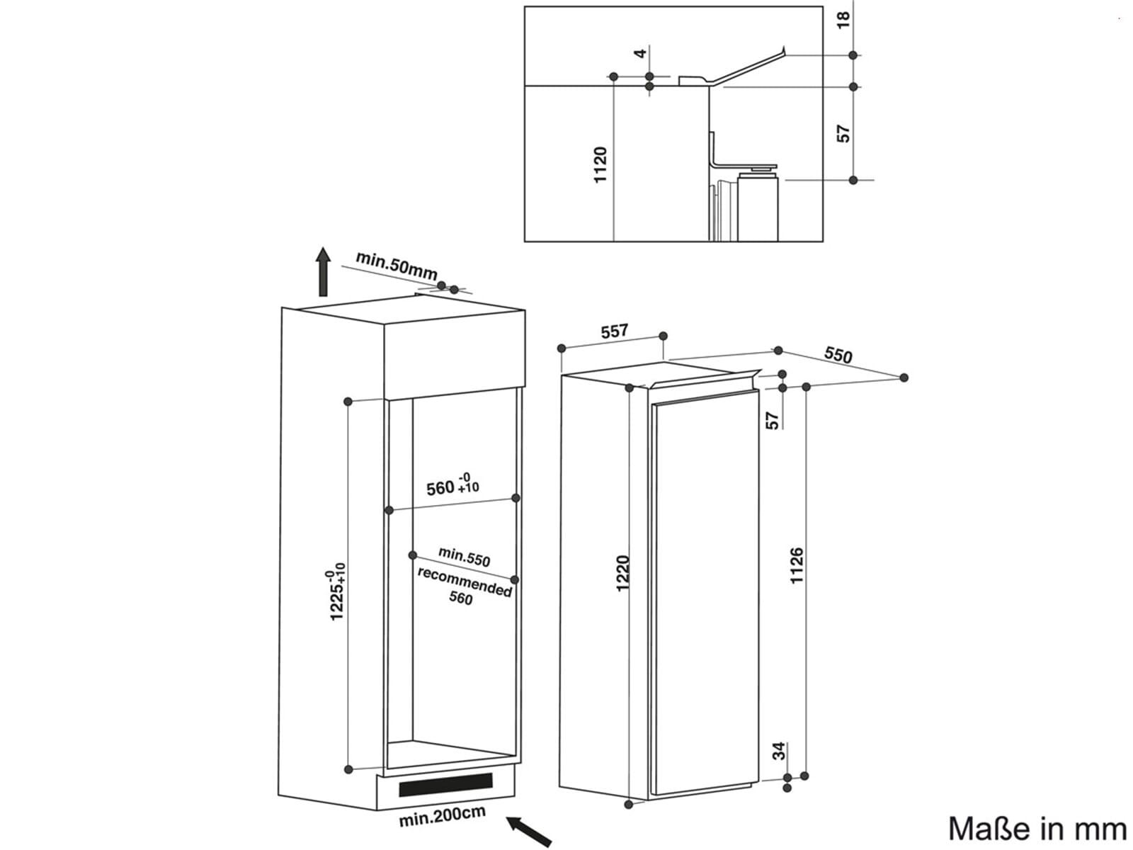 Bauknecht KRIE 2124 A+++ Einbaukühlschrank