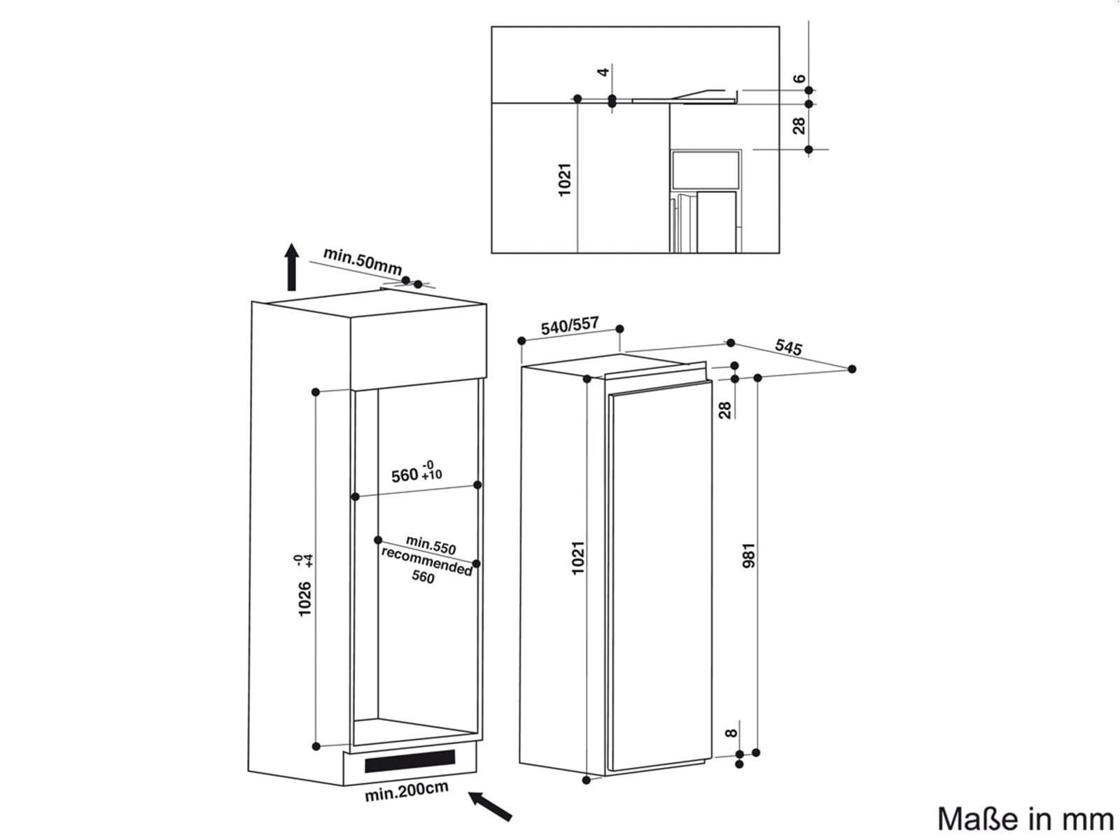 Bauknecht KVIE 1103 A++ Einbaukühlschrank