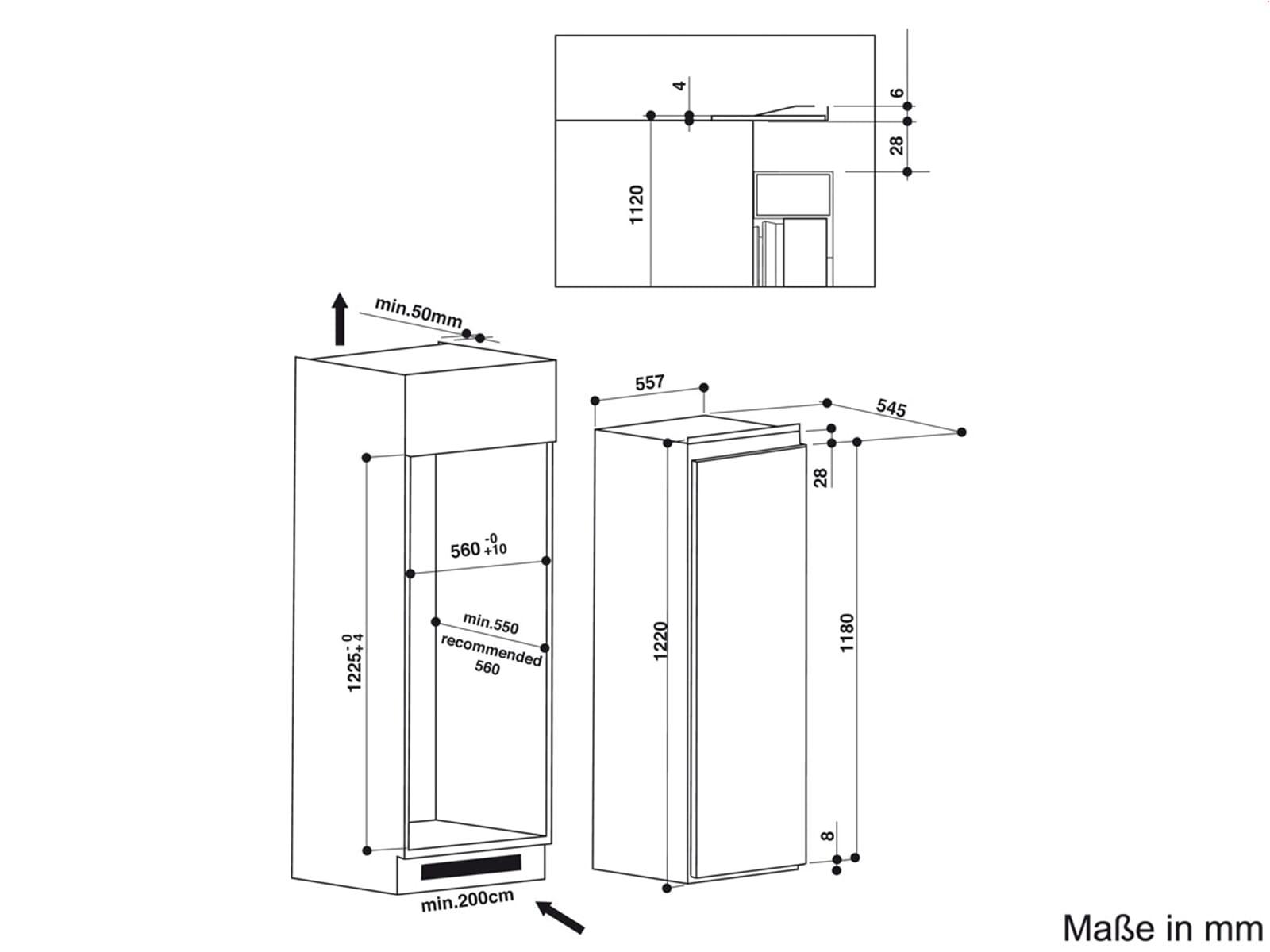 Bauknecht KVIE 2128 A++ Einbaukühlschrank