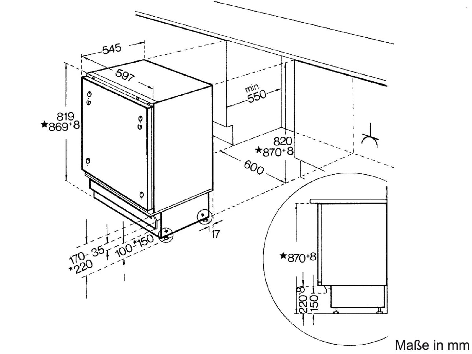 bauknecht uvi 1884 a unterbauk hlschrank. Black Bedroom Furniture Sets. Home Design Ideas