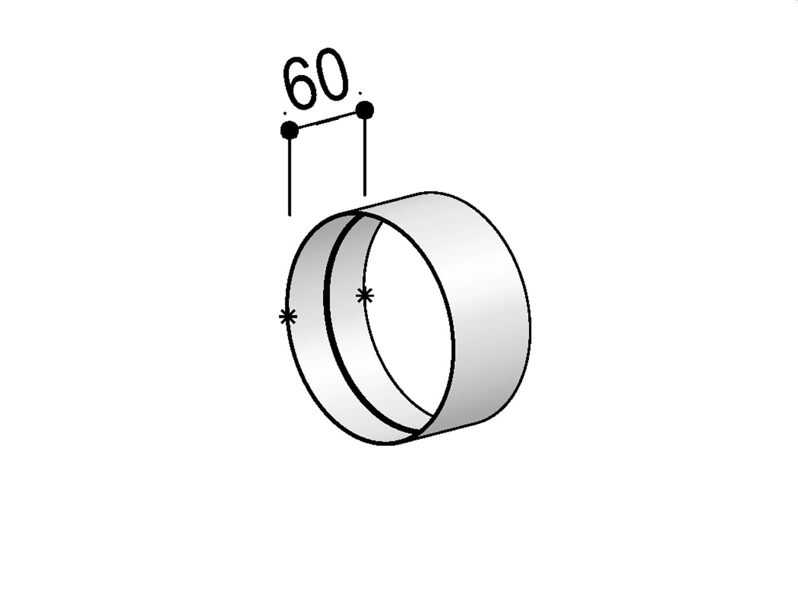 Berbel Rundrohr System 125 - Muffe