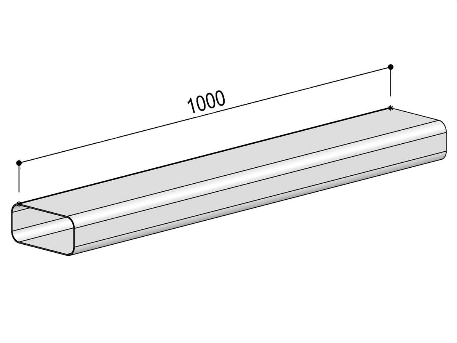 Berbel Flachrohr System 125 - Flachkanal