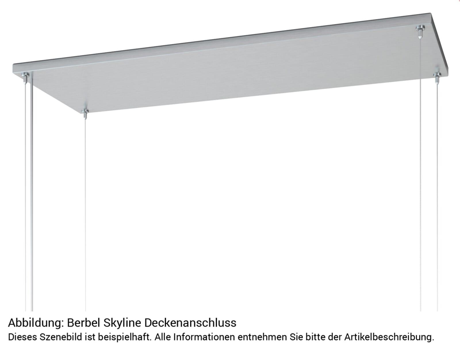 Berbel Skyline Set BDL 95 SK Deckenlifthaube Weiß + BDL 95 WG Deckenanschluss Weiß