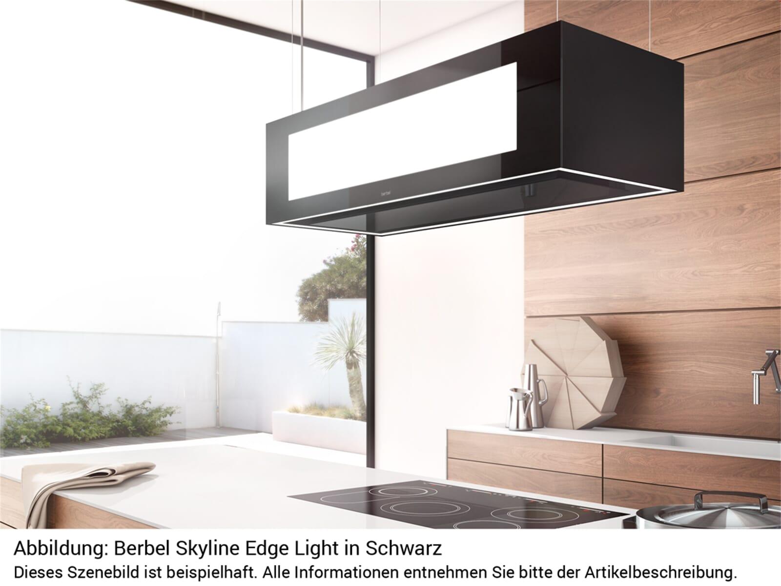 Berbel Skyline Edge Light Set BDL 115 SKE-L Deckenlifthaube Schwarz + BDL 115 SG Deckenanschluss Schwarz