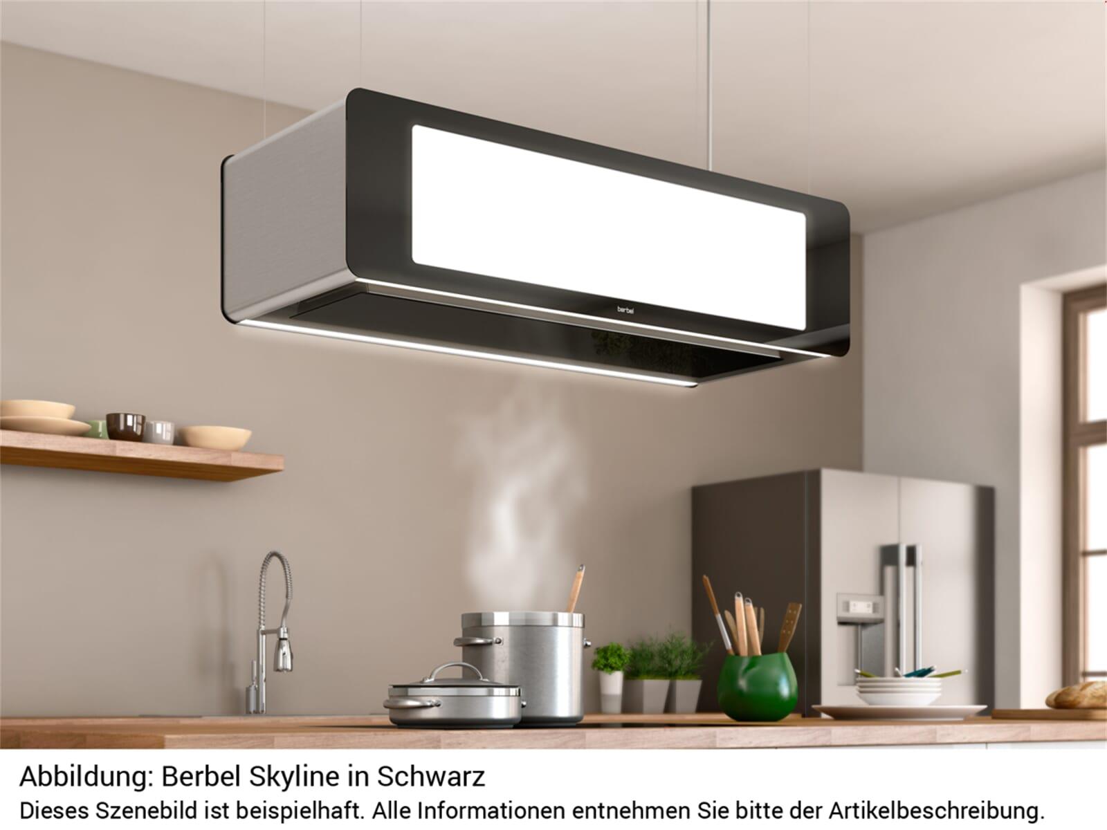 Berbel Skyline Set BDL 115 SK Deckenlifthaube Schwarz + BDL 115 SG Deckenanschluss Schwarz