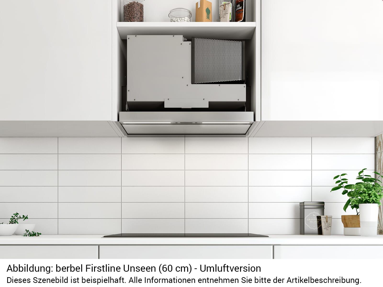 Berbel Firstline Unseen BEH 60 FLU Einbauhaube Abluft
