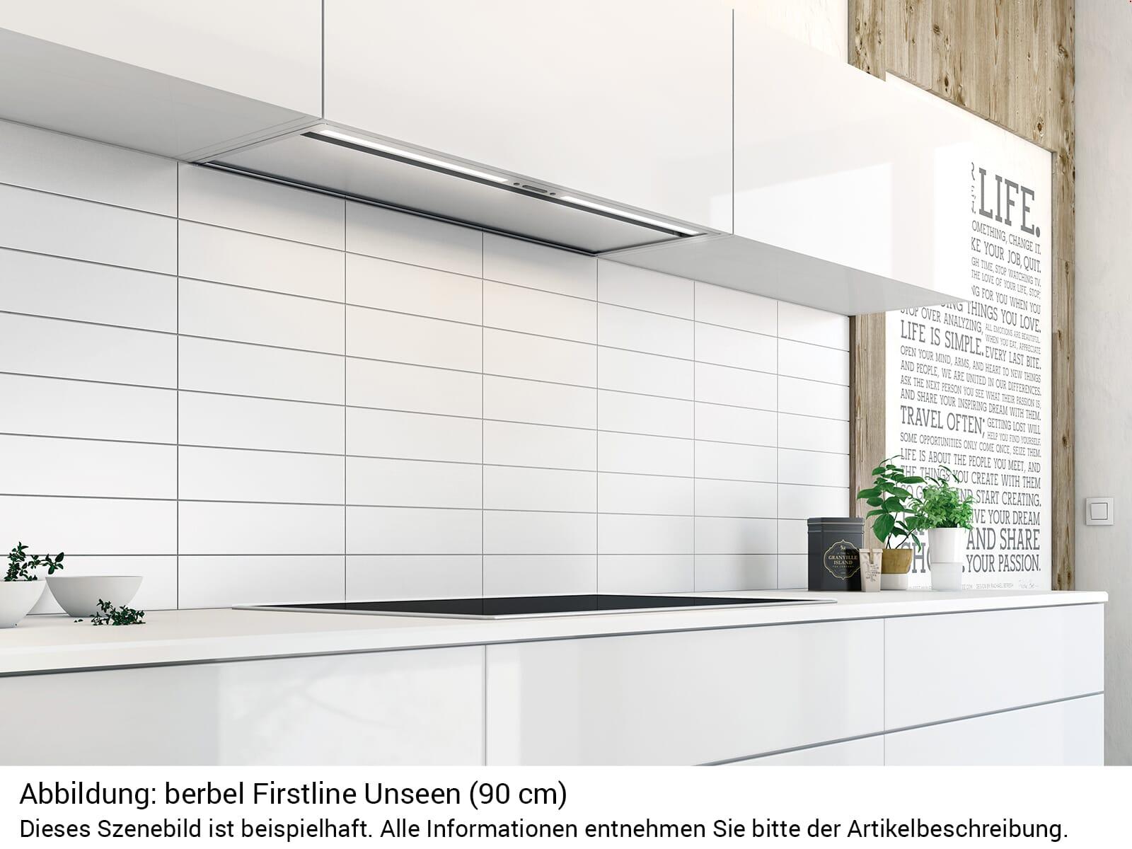 Berbel Firstline Unseen BEH 90 FLU Einbauhaube Abluft