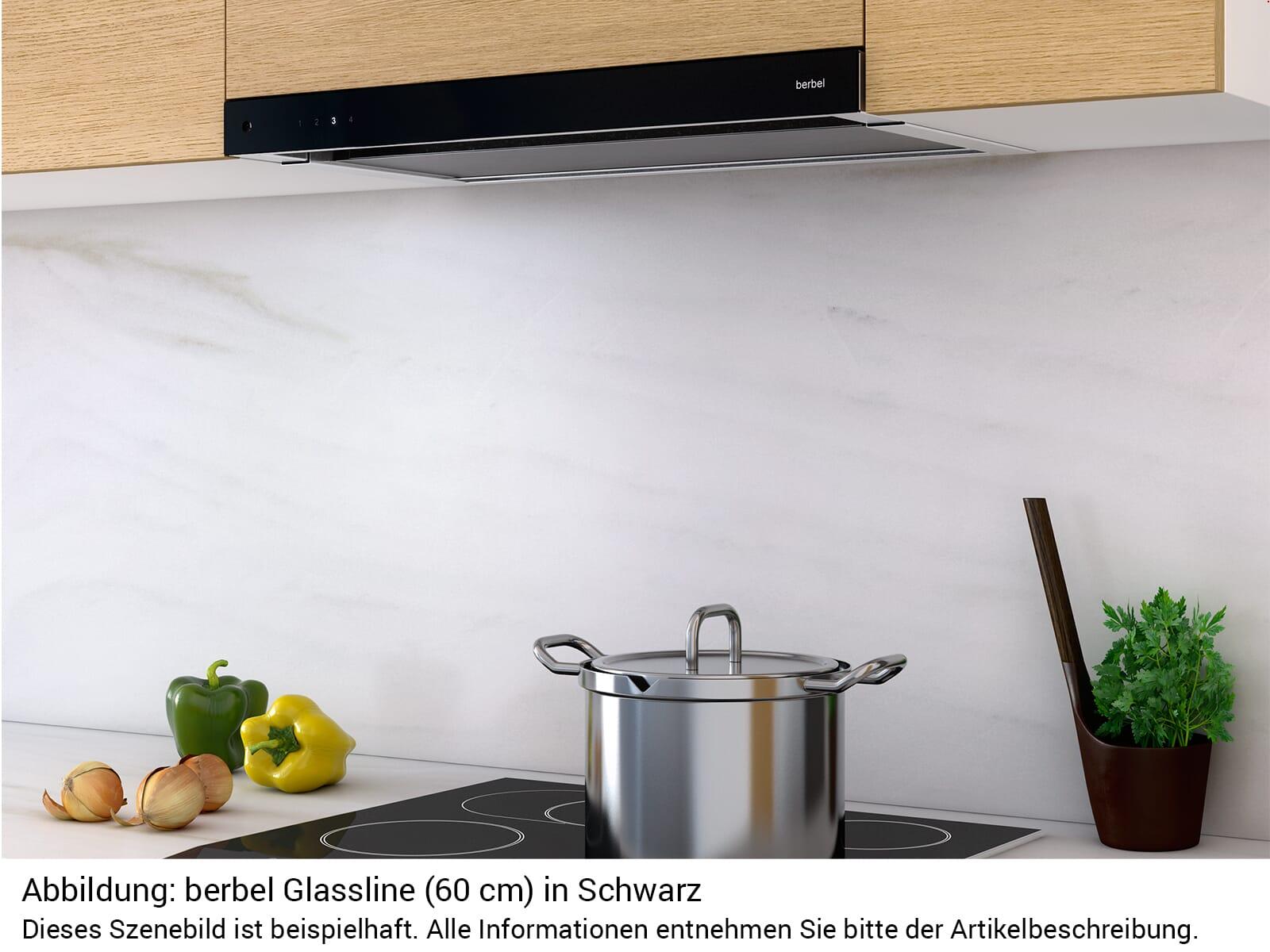 Berbel Glassline BEH 90 GL Flachschirmhaube Schwarz
