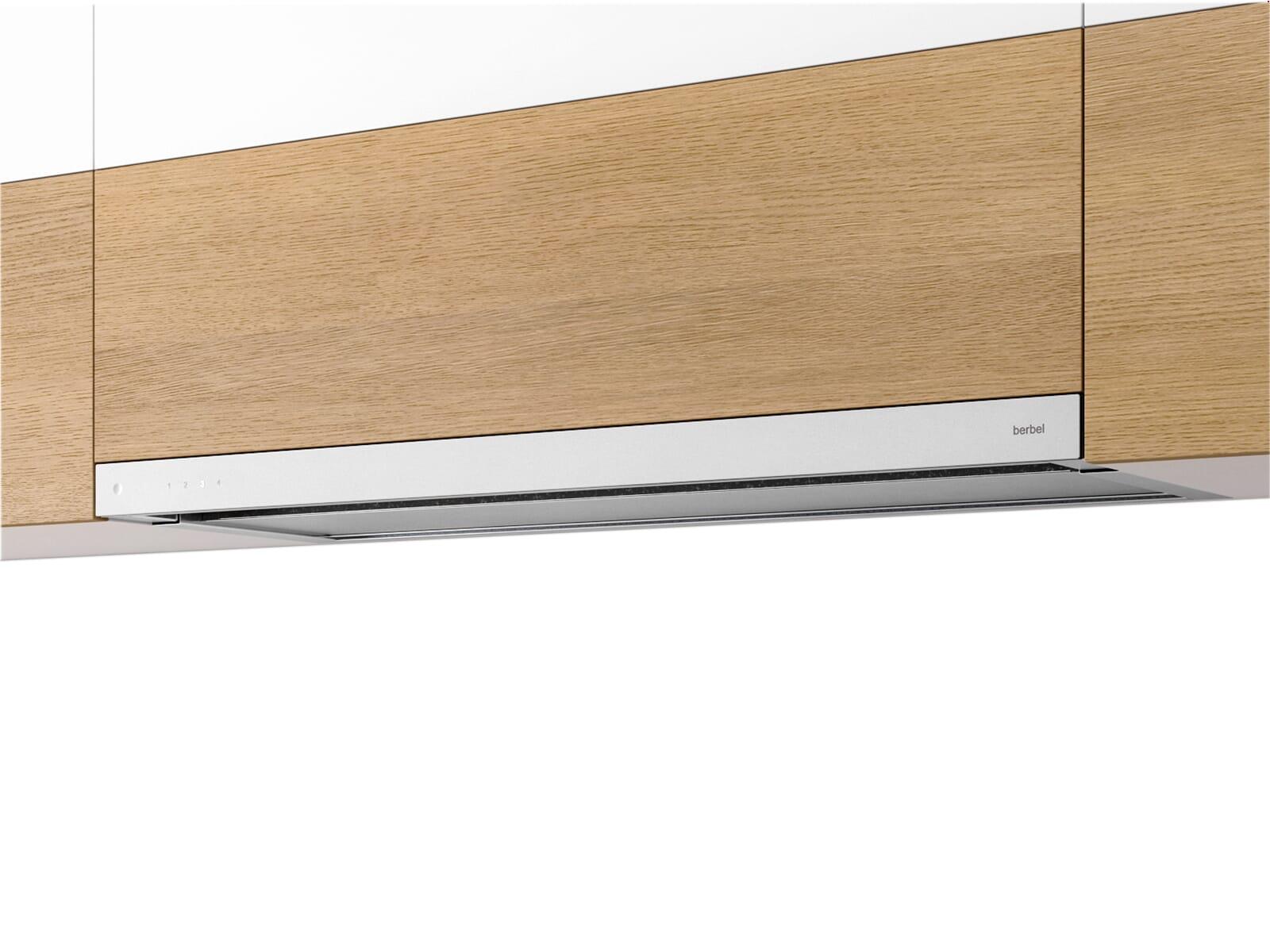 berbel glassline beh 90 gl flachschirmhaube wei. Black Bedroom Furniture Sets. Home Design Ideas