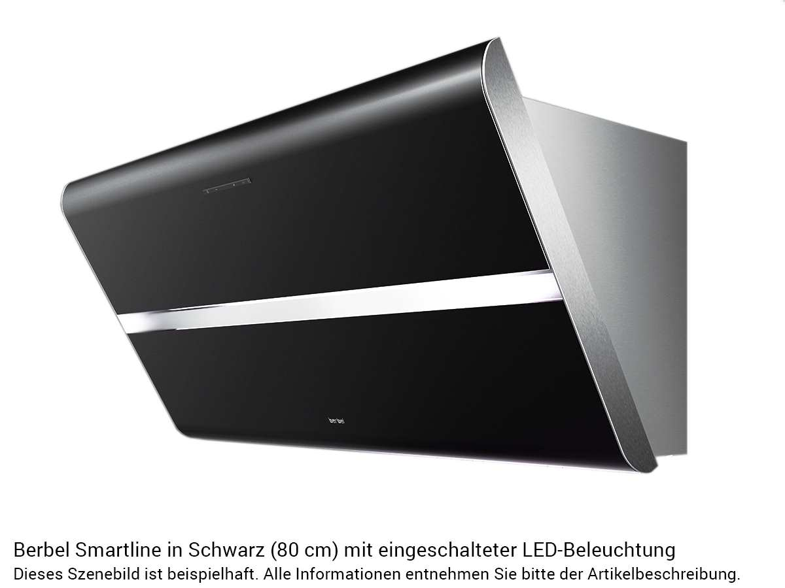 Berbel Smartline BKH 80 ST S P Kopffreihaube Schwarz