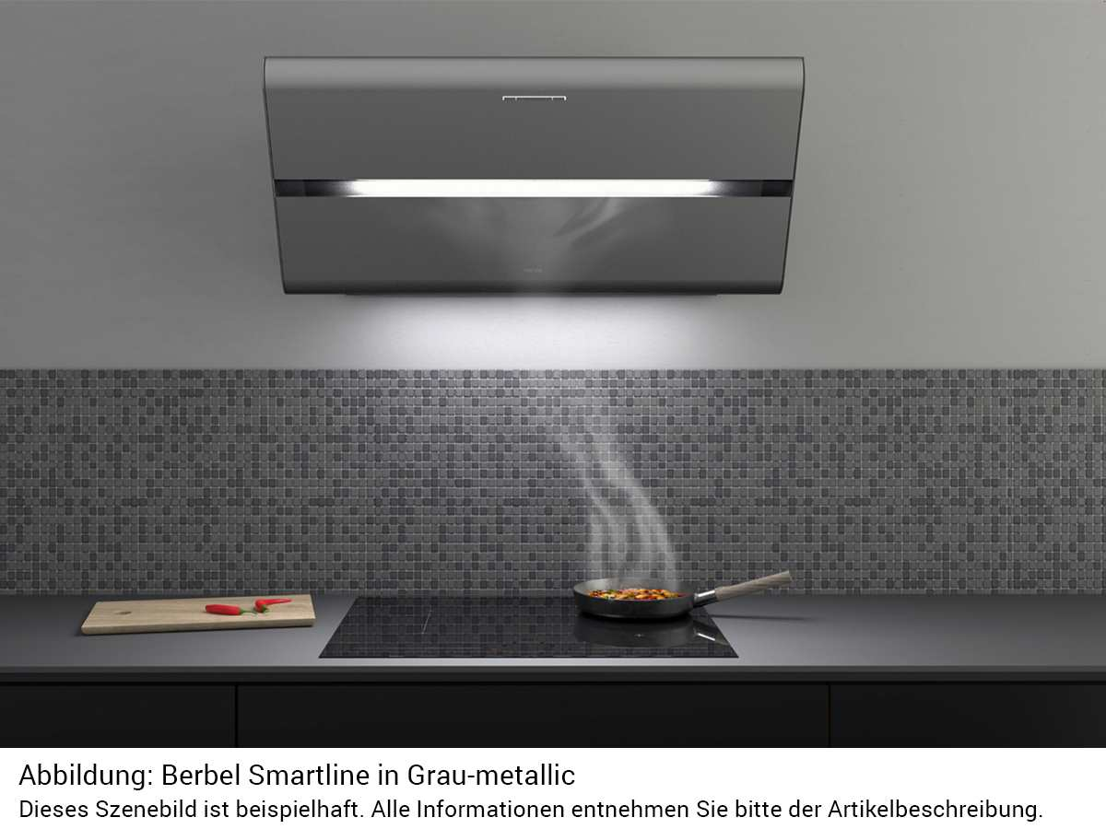 Berbel Smartline BKH 80 ST GM U Kopffreihaube Grau metallic