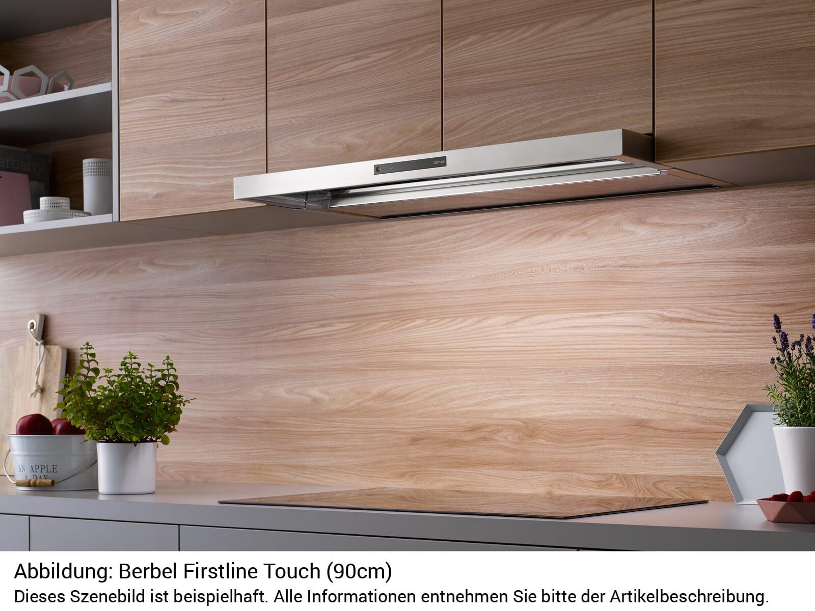 Berbel Firstline Touch BEH 90 FLT Einbauhaube Edelstahl
