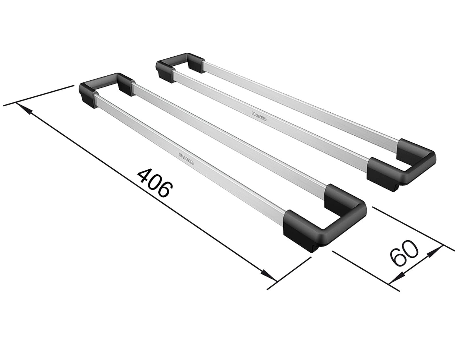 Blanco 235 906 Set TOP-Schienen 400 Edelstahl/Kunststoff